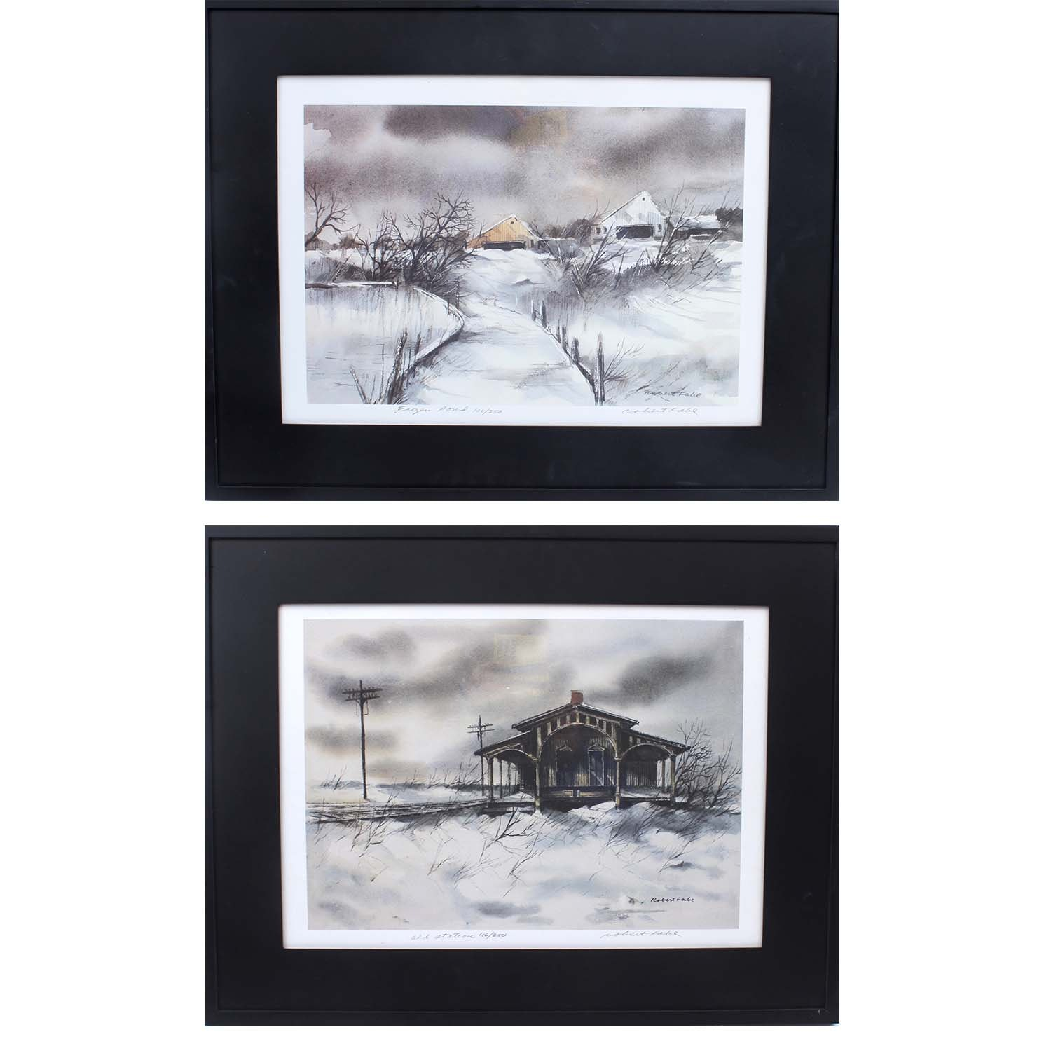Two Signed Robert Fabe Limited Edition Offset Lithographs