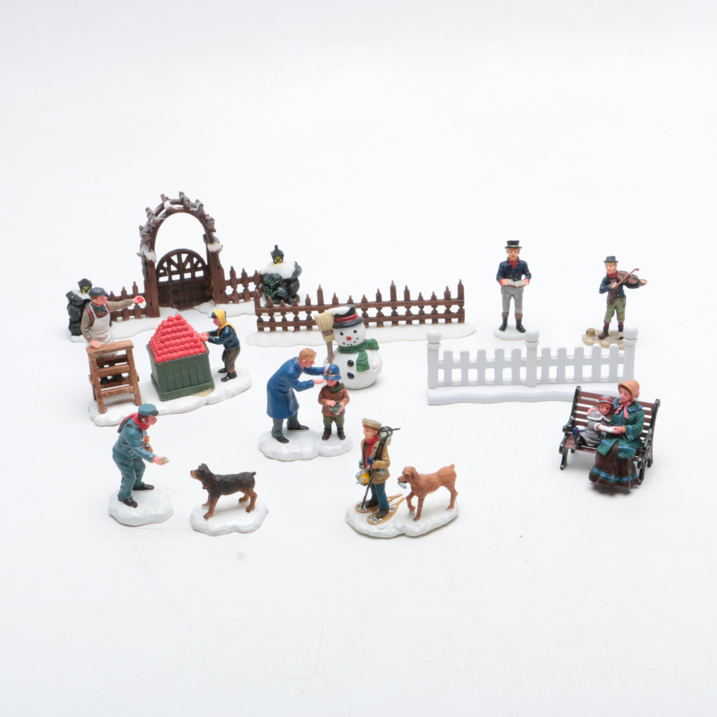 Lemax and Other Miniature Winter-Themed Figurines