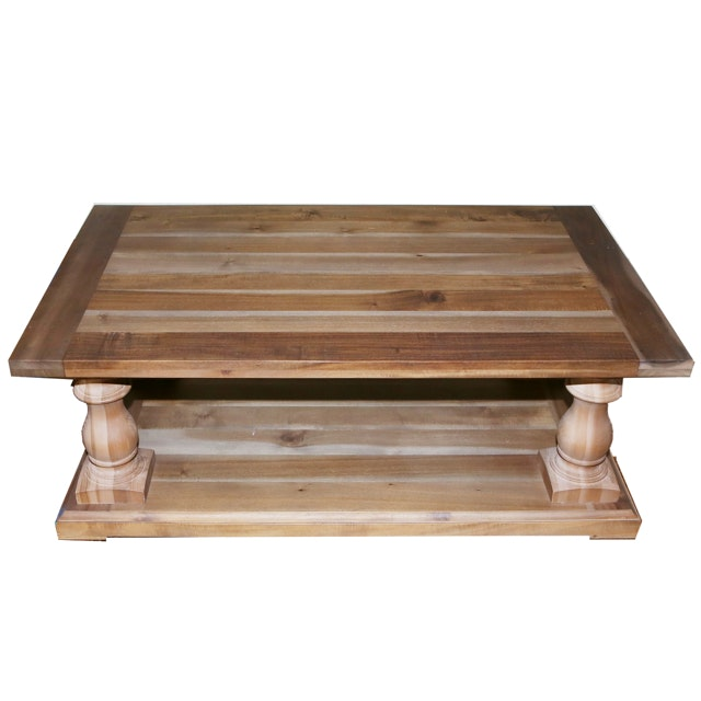 Acacia Coffee Table From Restoration Hardware