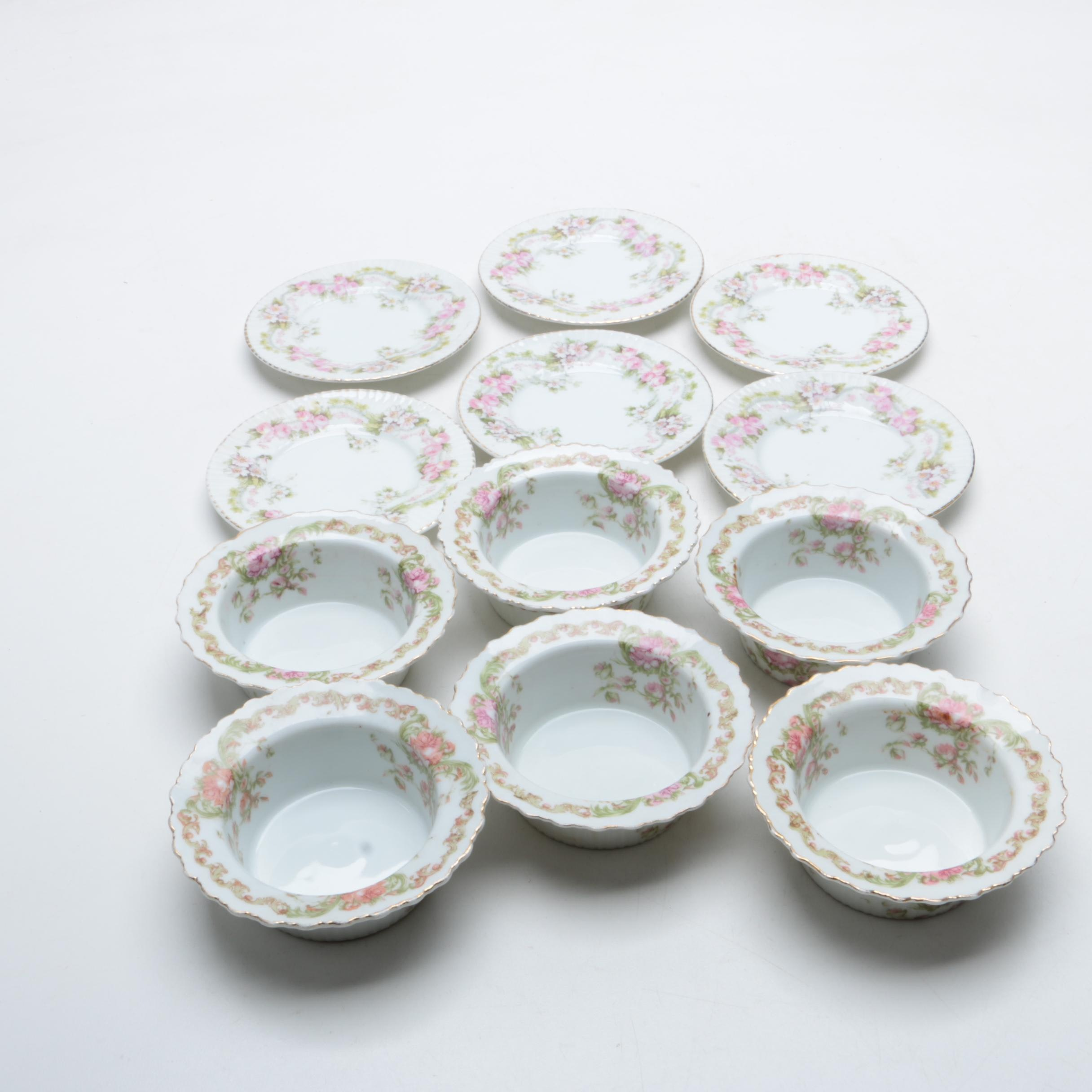 Z.C. & Co. Scherzer Porcelain Ramekins and Underplates