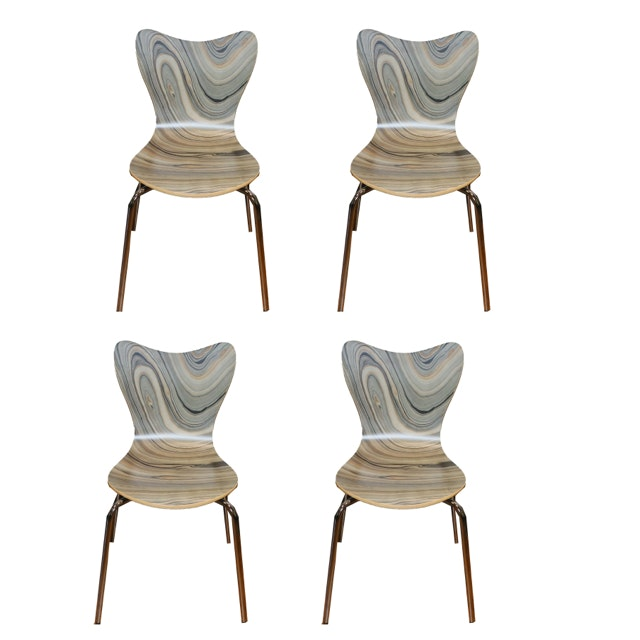 Set of Mid Century Modern Style Side Chairs
