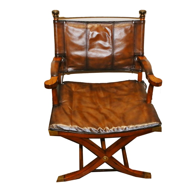 Empire Style Leather Accent Chair from Thomasville