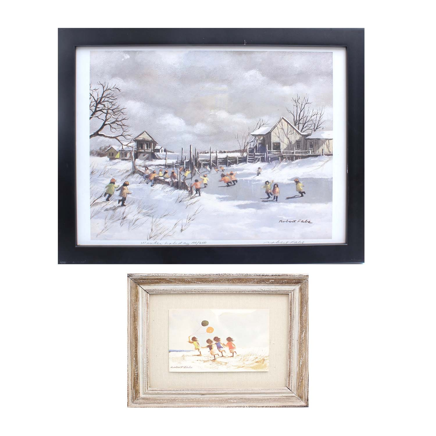 Two Signed Robert Fabe Offset Lithographs