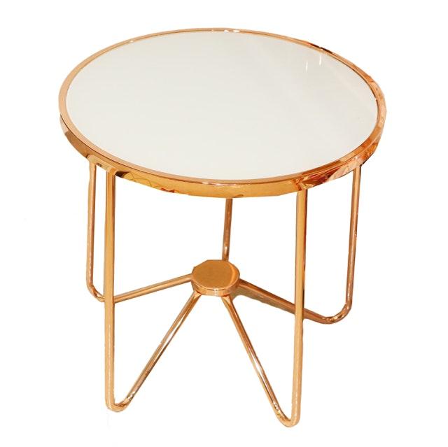 Copper Colored Accent Table