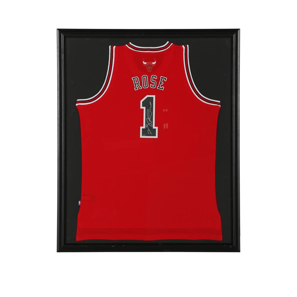 Derrick Rose Autographed Jersey - COA Schwartz Sports