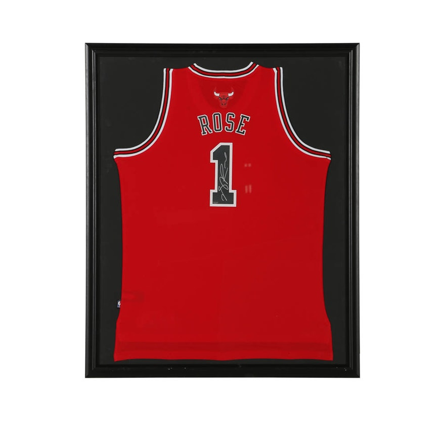 cheap for discount 860f0 7687d Derrick Rose Autographed Jersey - COA Schwartz Sports