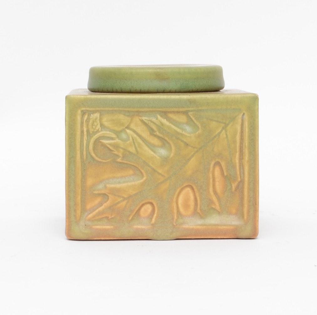 1912 Rookwood Pottery Oak Leaf Ink Well