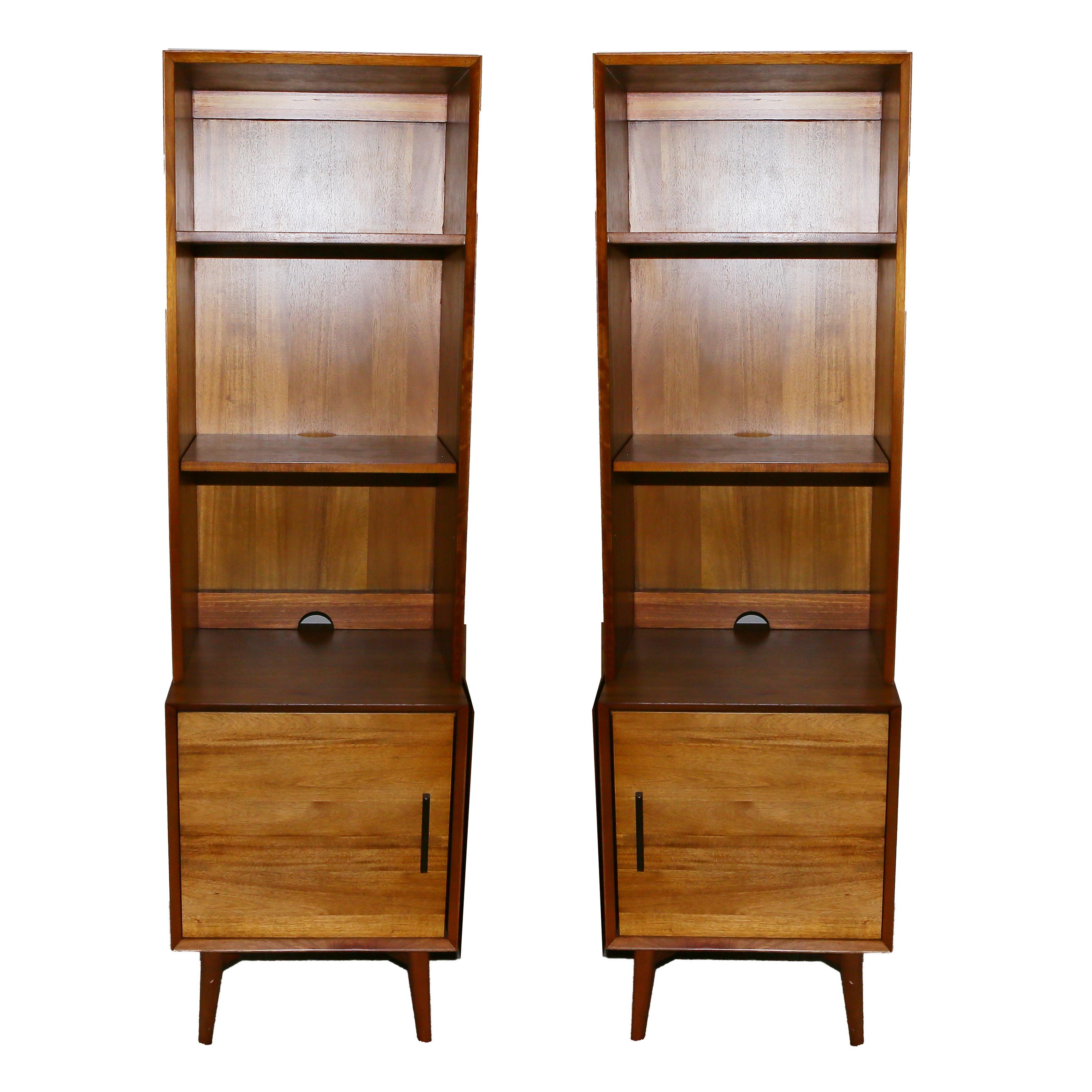 Mid Century Modern Style Bookcases