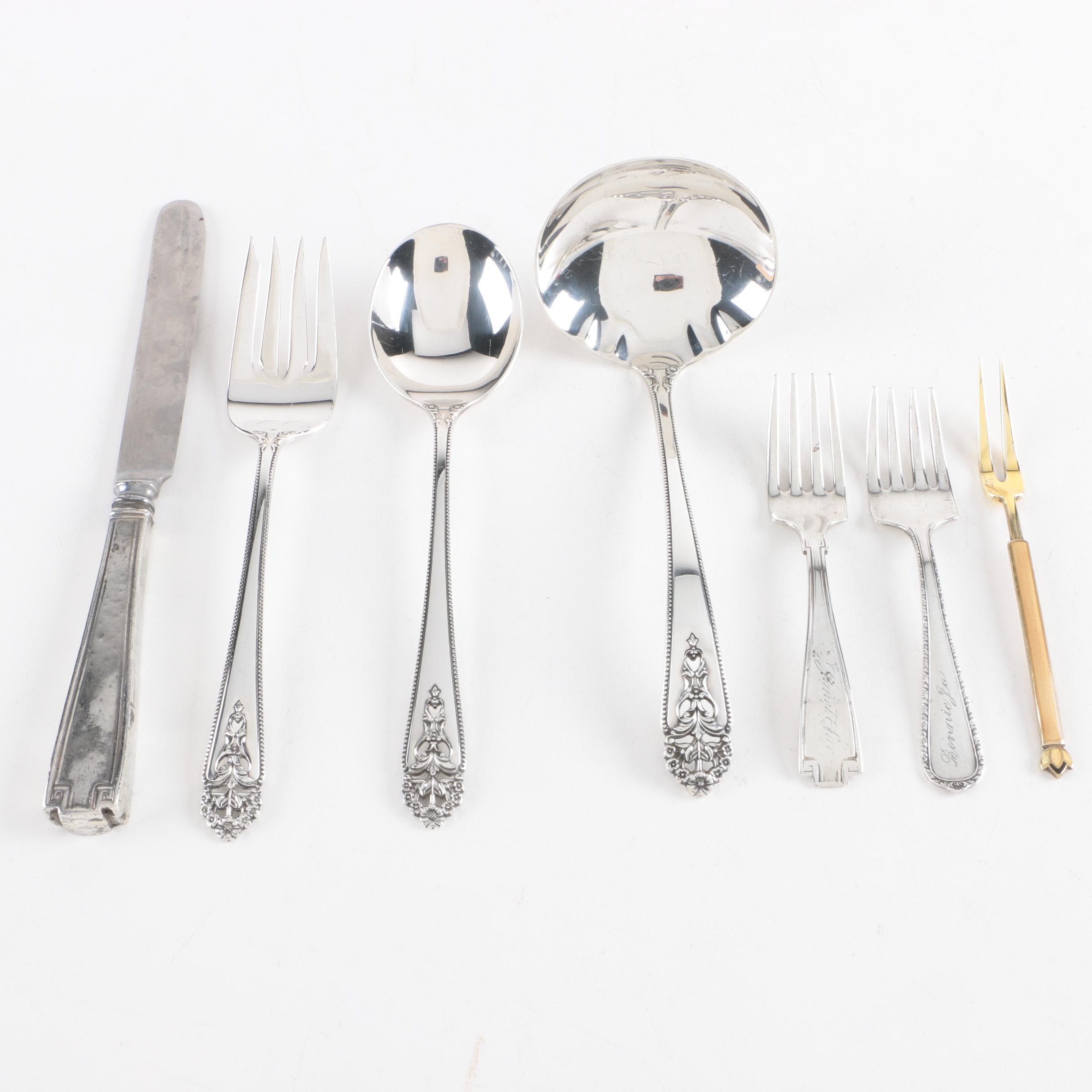 "International Silver Co. ""Queen's Lace"" and Other Sterling Silver Flatware"