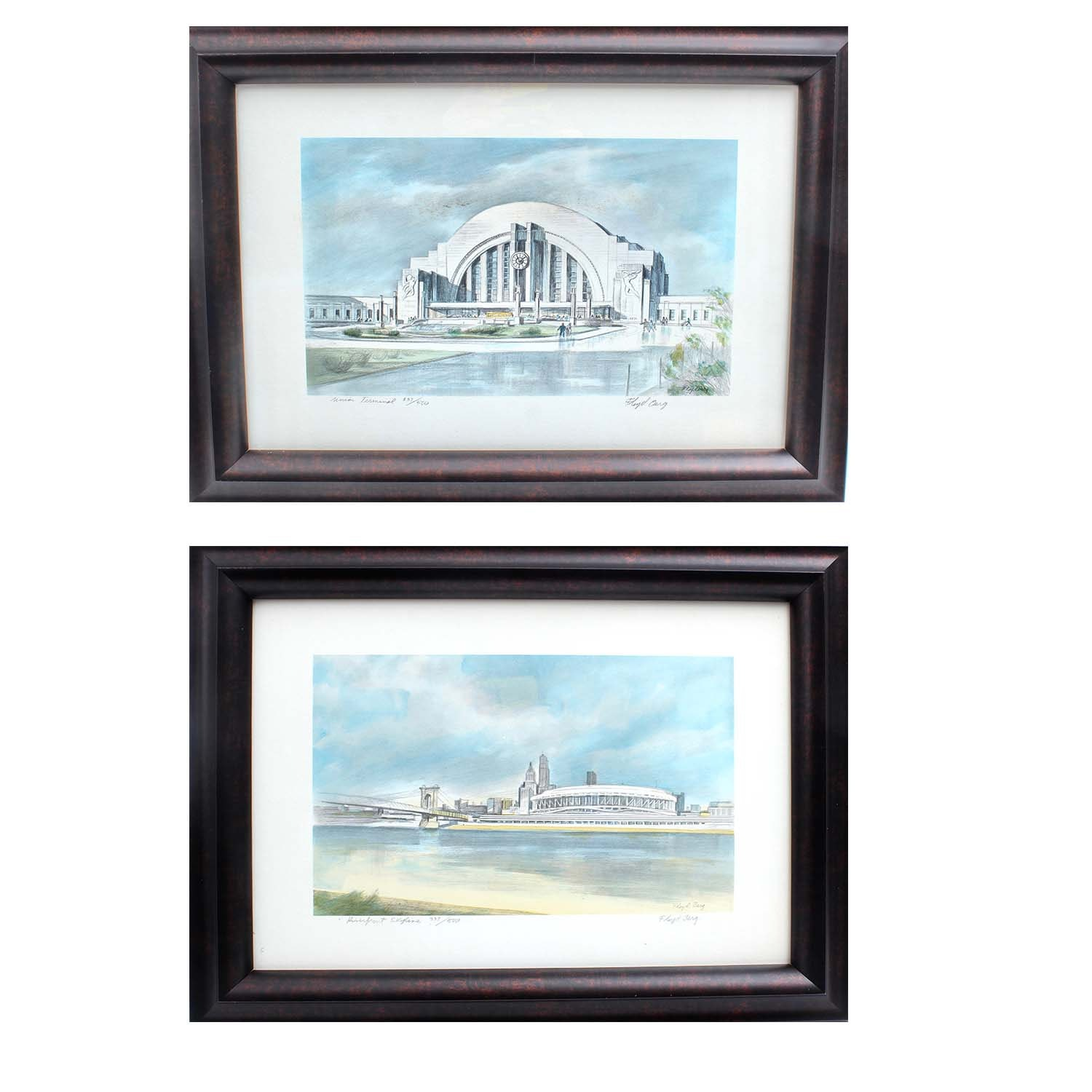 Two Signed Floyd Berg Limited Edition Offset Lithographs