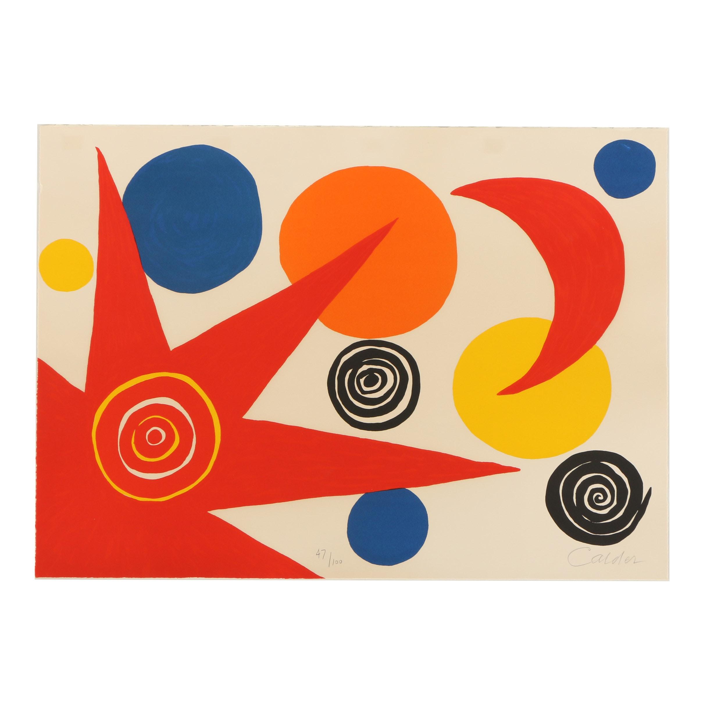 """Alexander Calder Limited Edition Lithograph """"La Mémoire Élémentaire"""""""