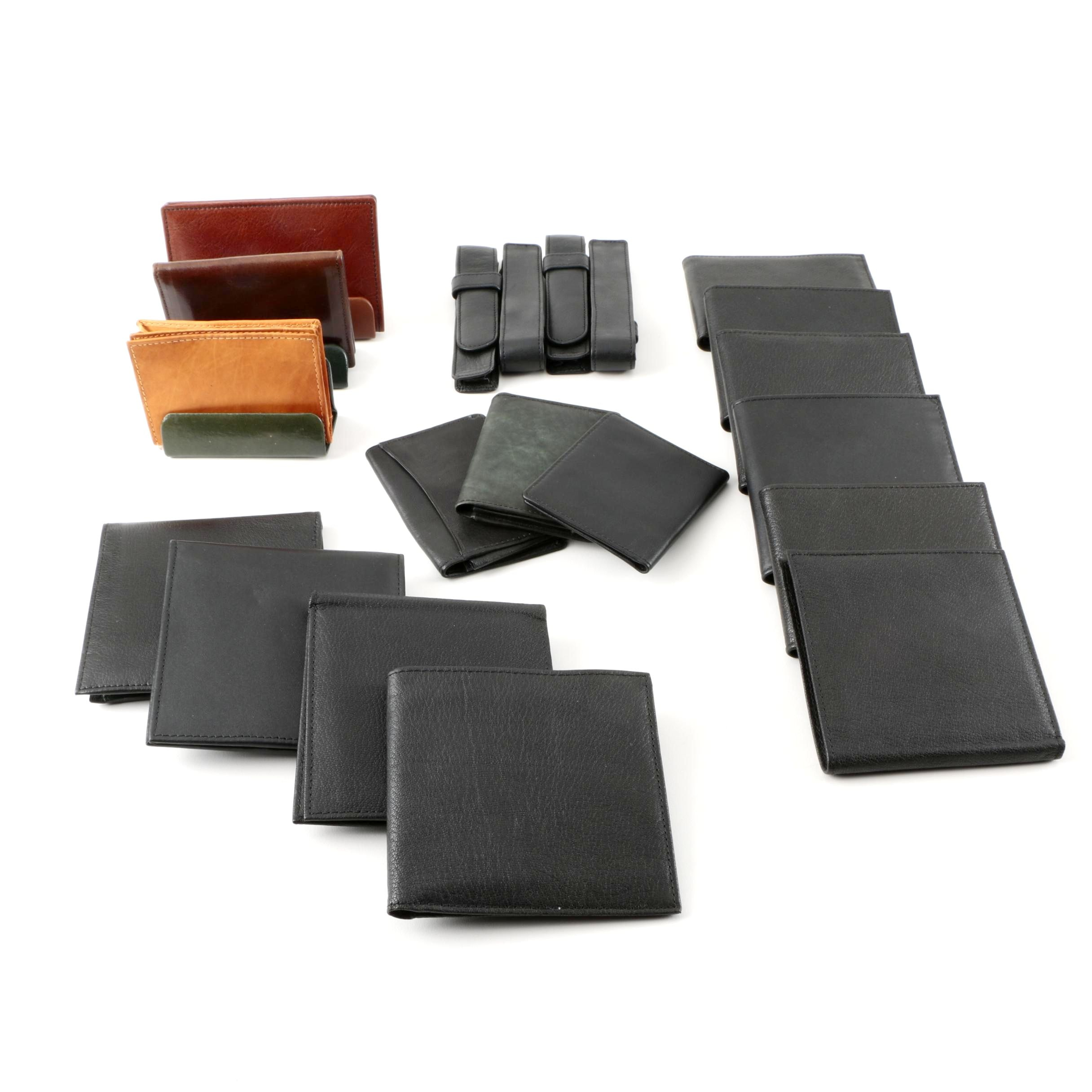 Assortment of Leather Wallets, Card Cases and Accessories