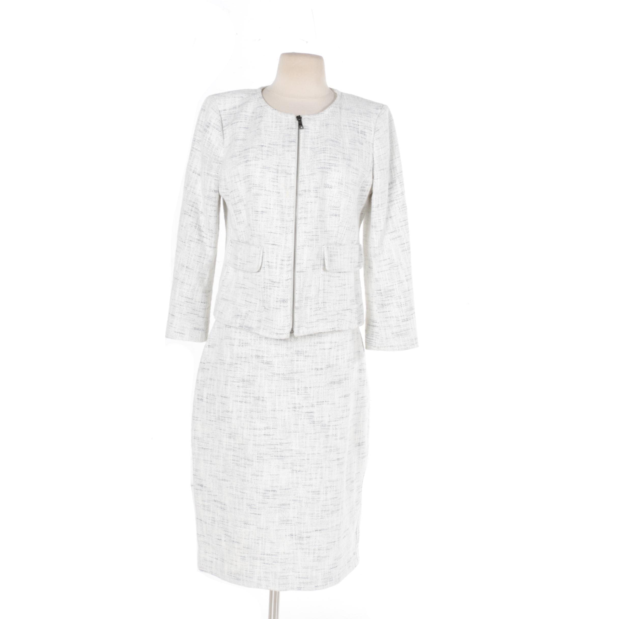 Ann Taylor White Skirt Suit