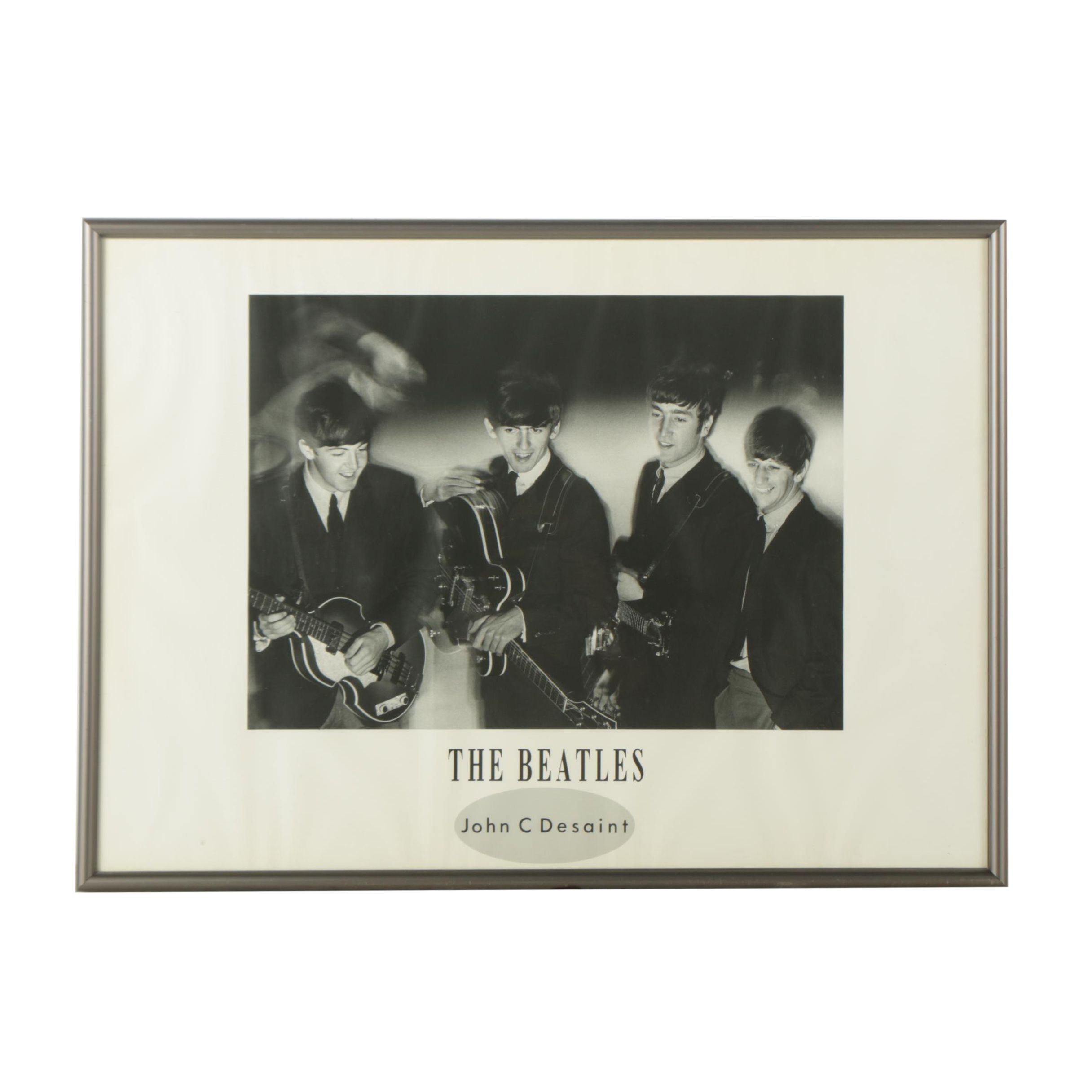 Halftone Print on Paper After John C. Desaint Photograph of the Beatles