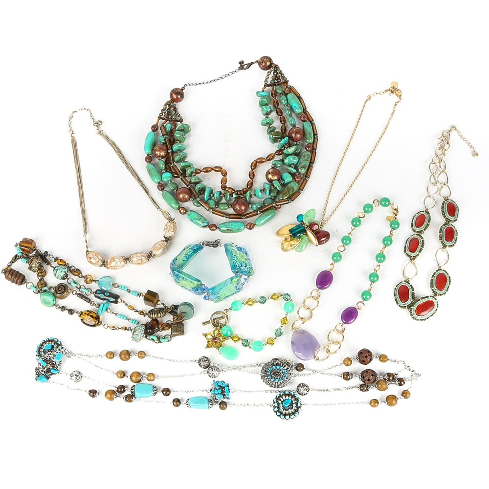 Beaded Necklace and Bracelet Assortment
