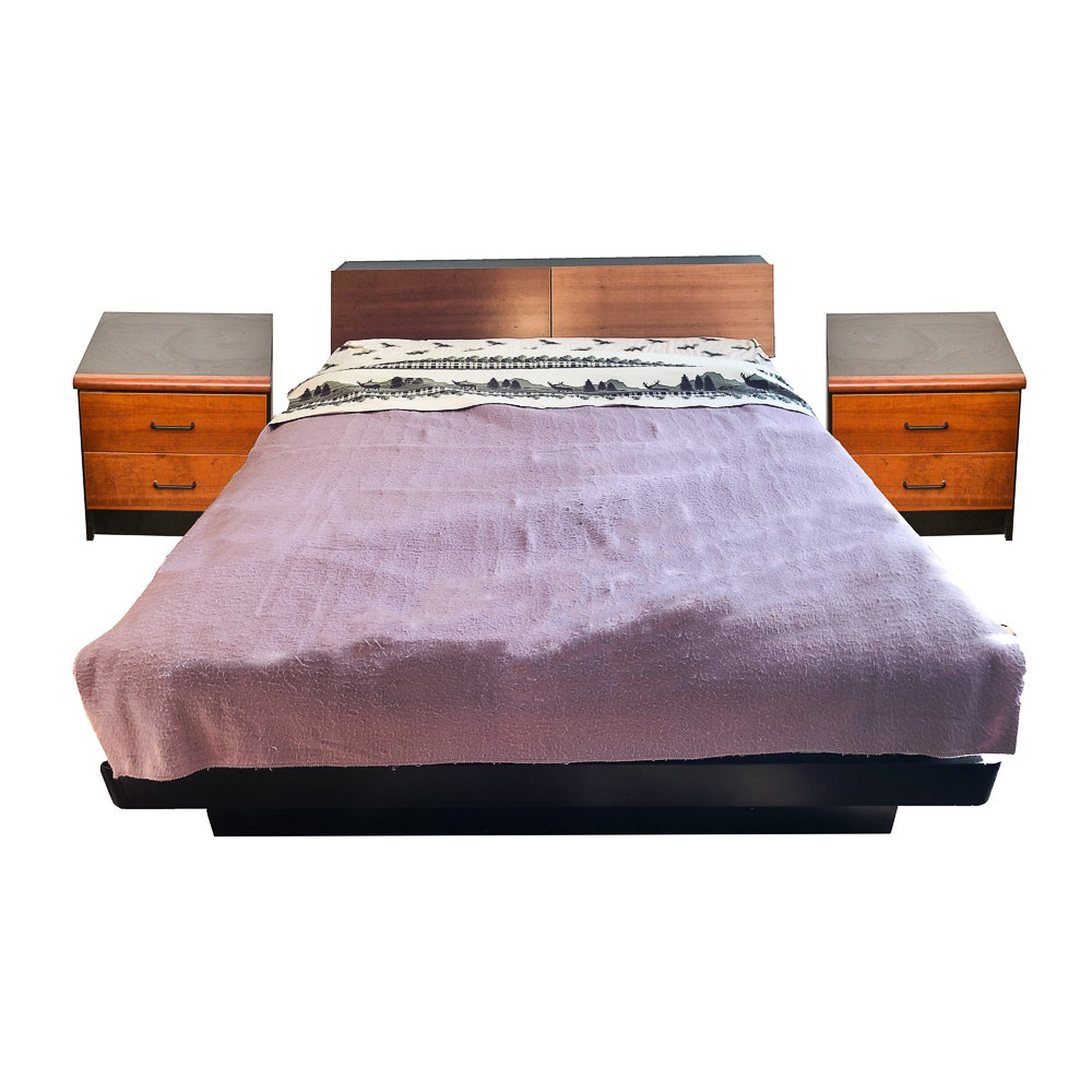 Queen Size Platform Bed Frame and Nightstands by Techline