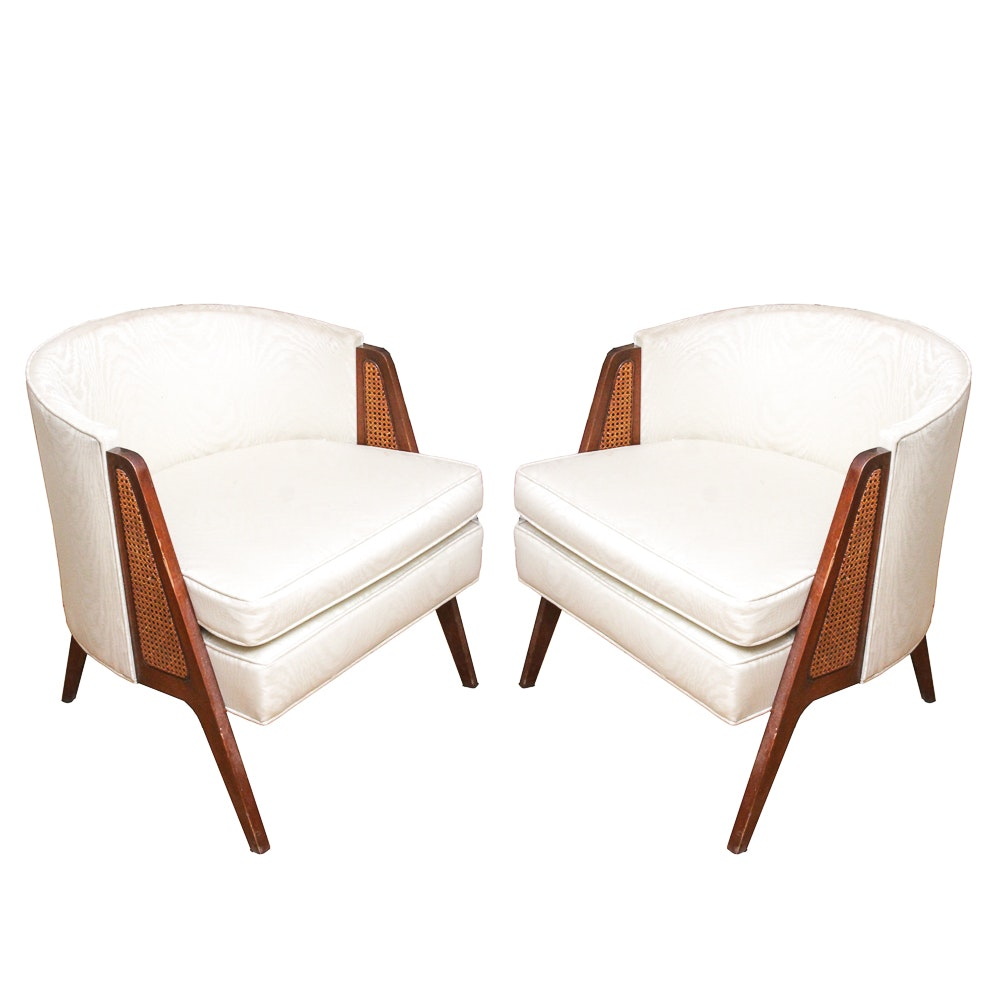 Mid Century Modern Style Barrel Back Armchairs