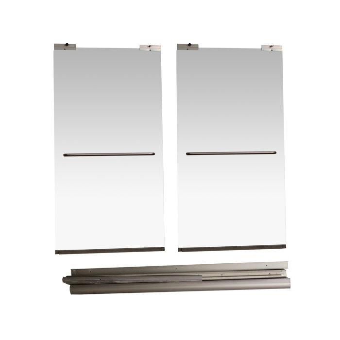 Glass Shower Doors with Frame Kit