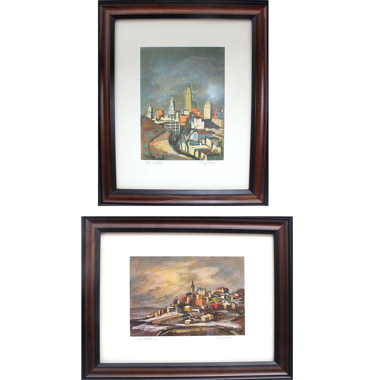 Two Signed Floyd Berg Offset Lithographs
