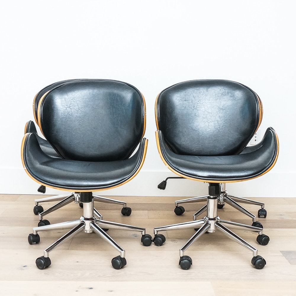 Mid Century Modern Style Rolling Office Chairs by Urban Home