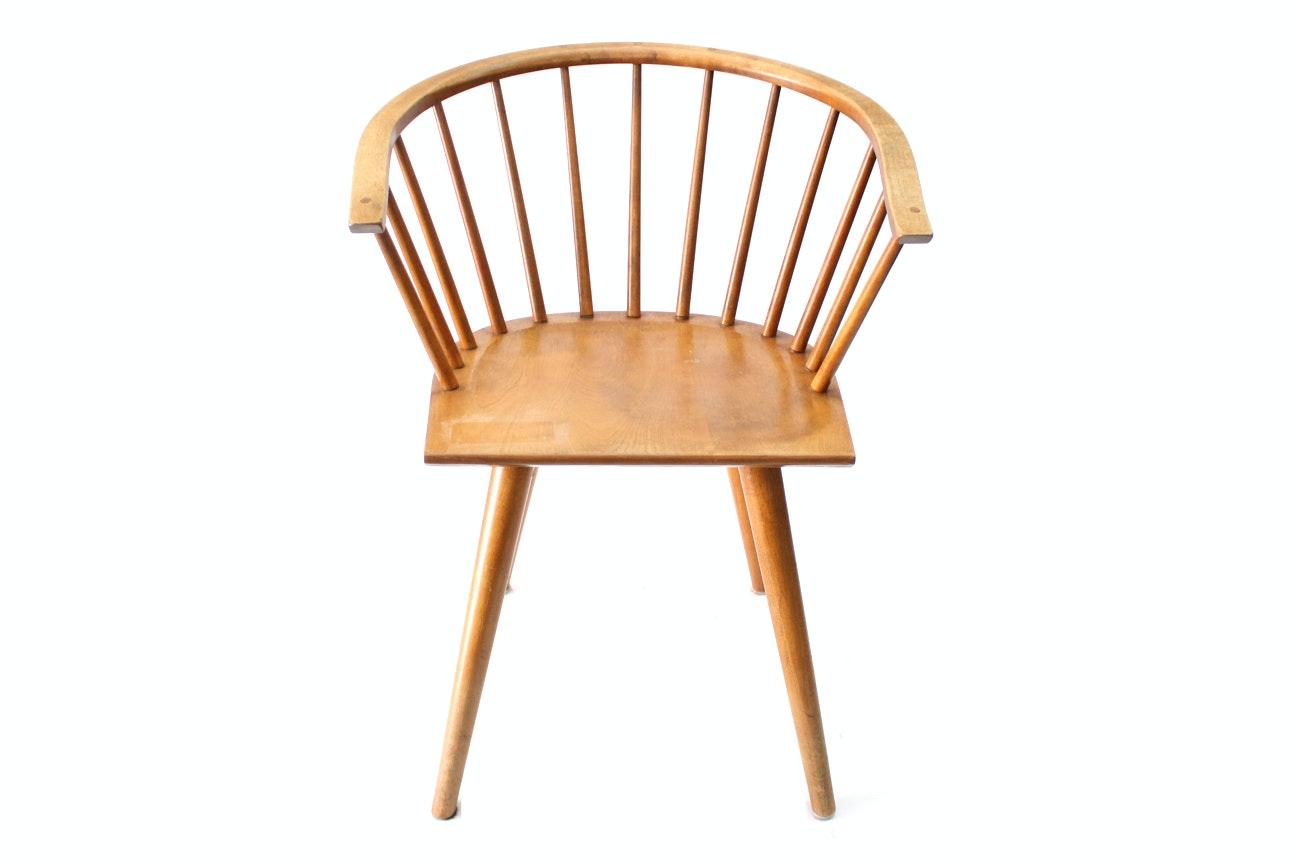 Russel Wright For Conant Ball Mid Century Modern Birch Chair ...