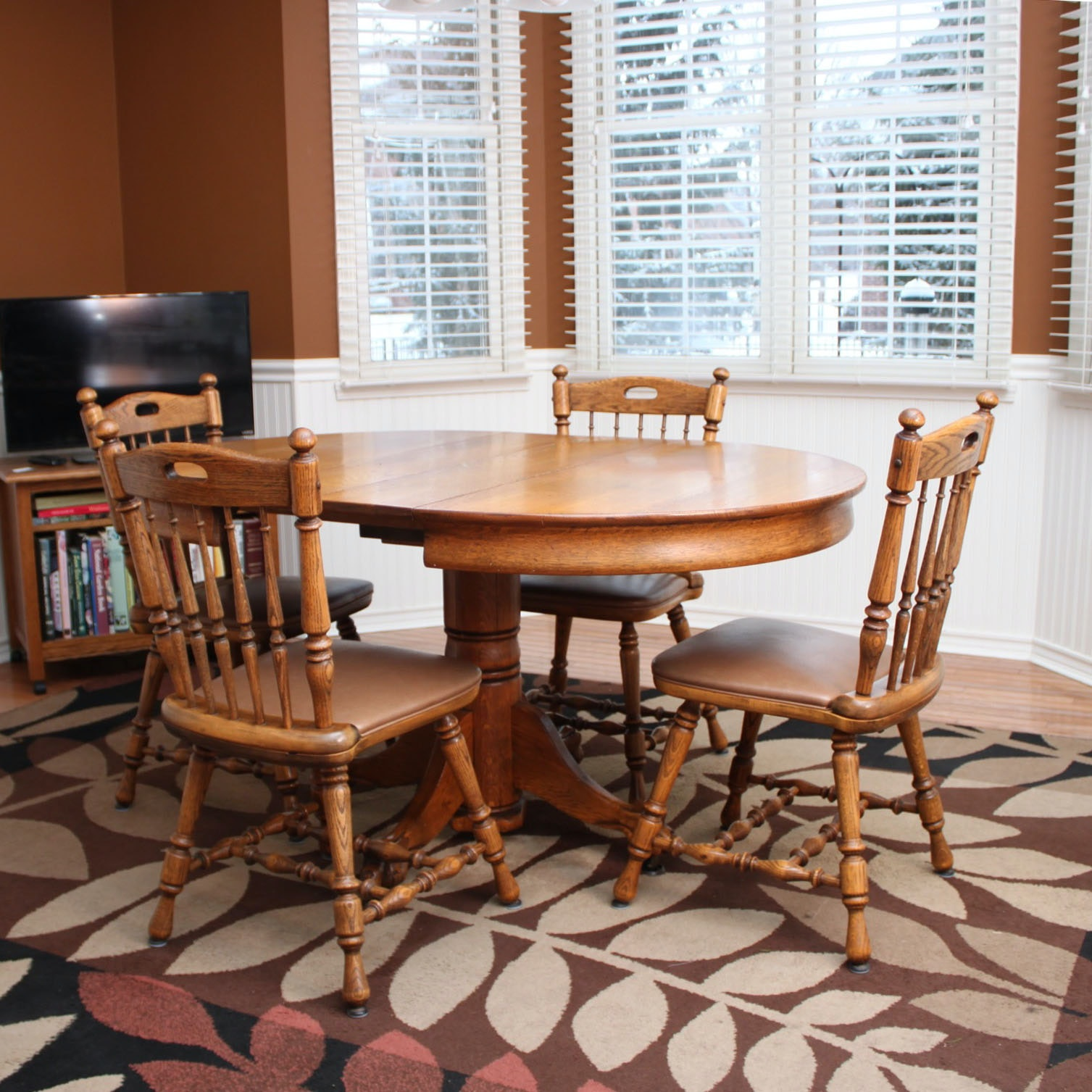 Oak Dining Table and Chairs by Dinaire