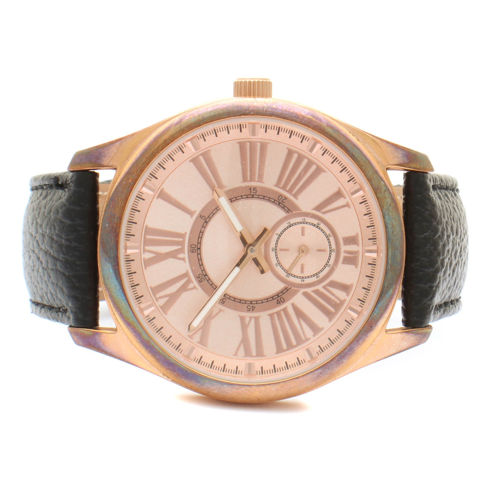 Bronzo Italia Wristwatch with Black Leather Band