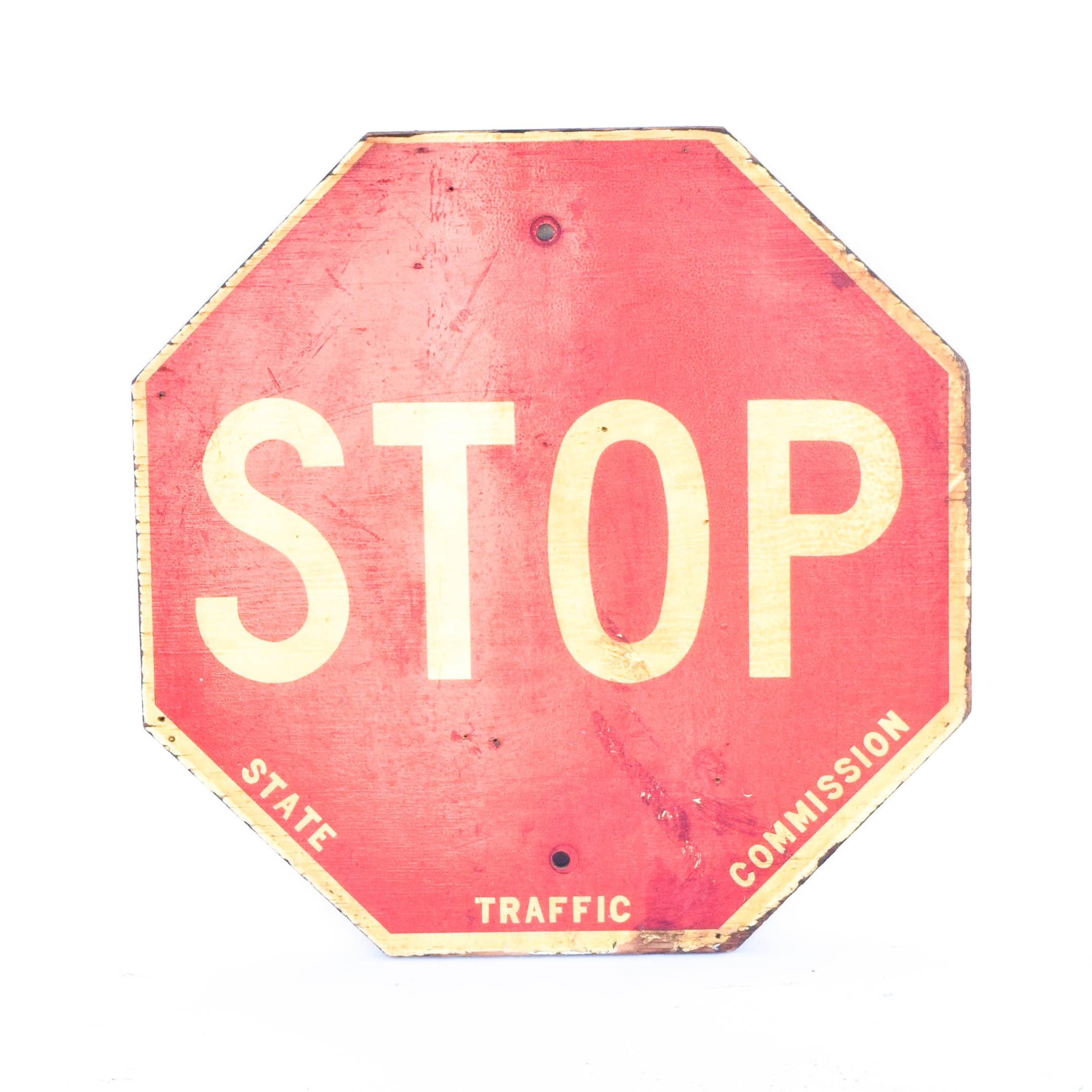 Wooden Vintage Stop Sign