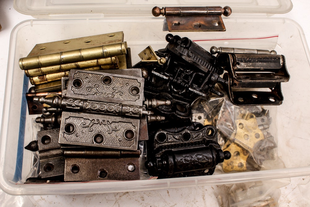 Vintage and Antique Hinge Hardware Collection