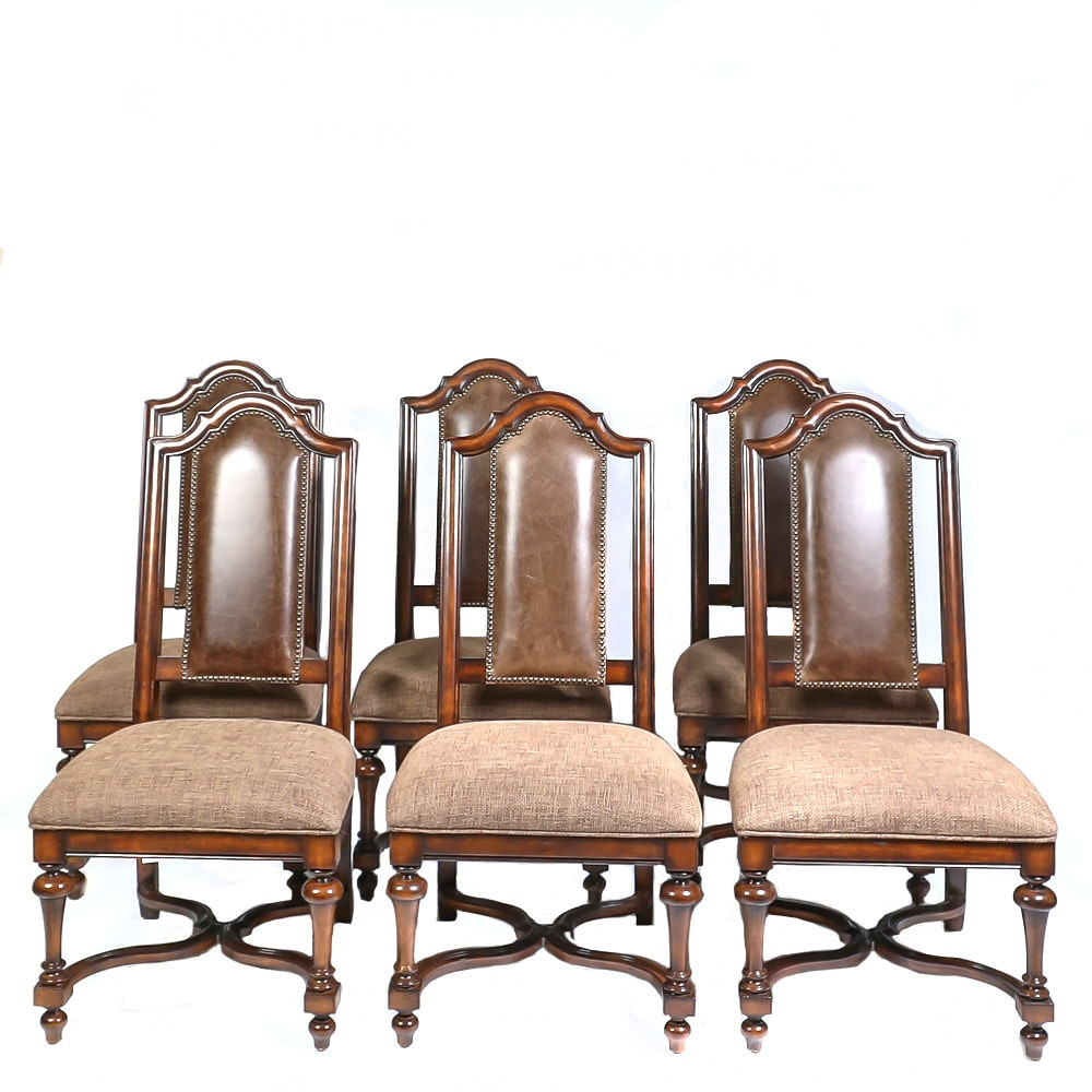 Jacobean Revival Style Side Chairs by Stanley Furniture