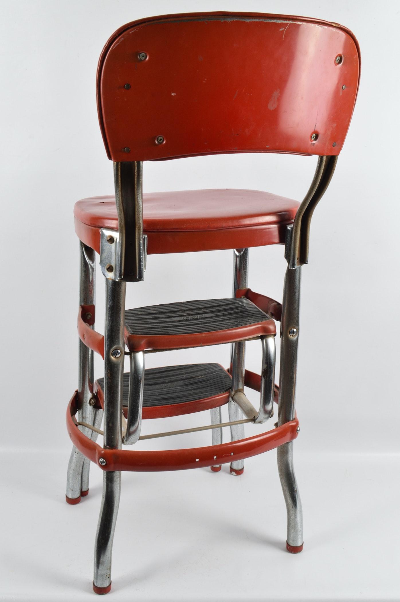 Mid Century Cosco Step Stool Chair Ebth