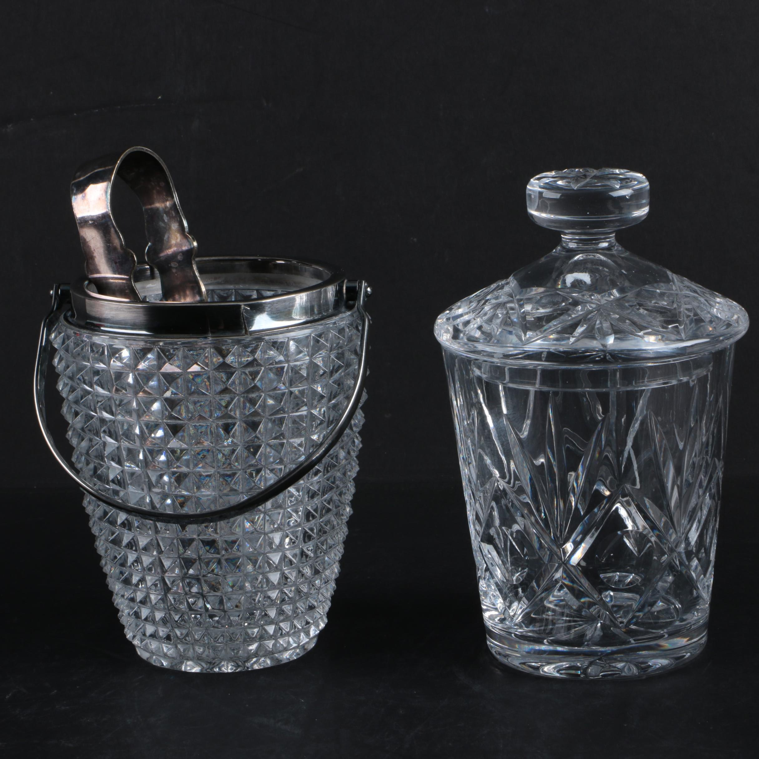 Crystal Candy Dish and Ice Bucket