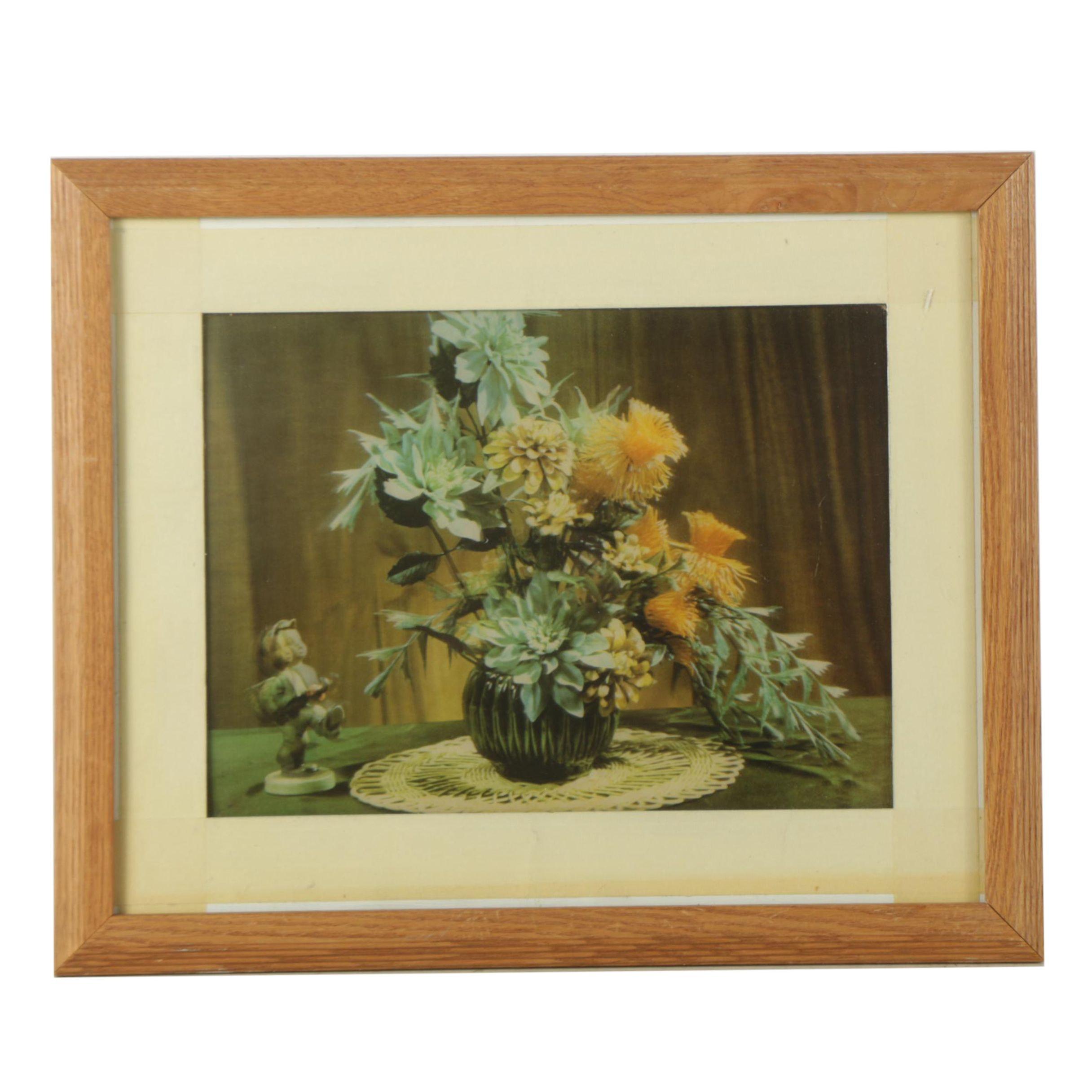 "Victor Anderson Lentograph Print ""Evening Flowers"""