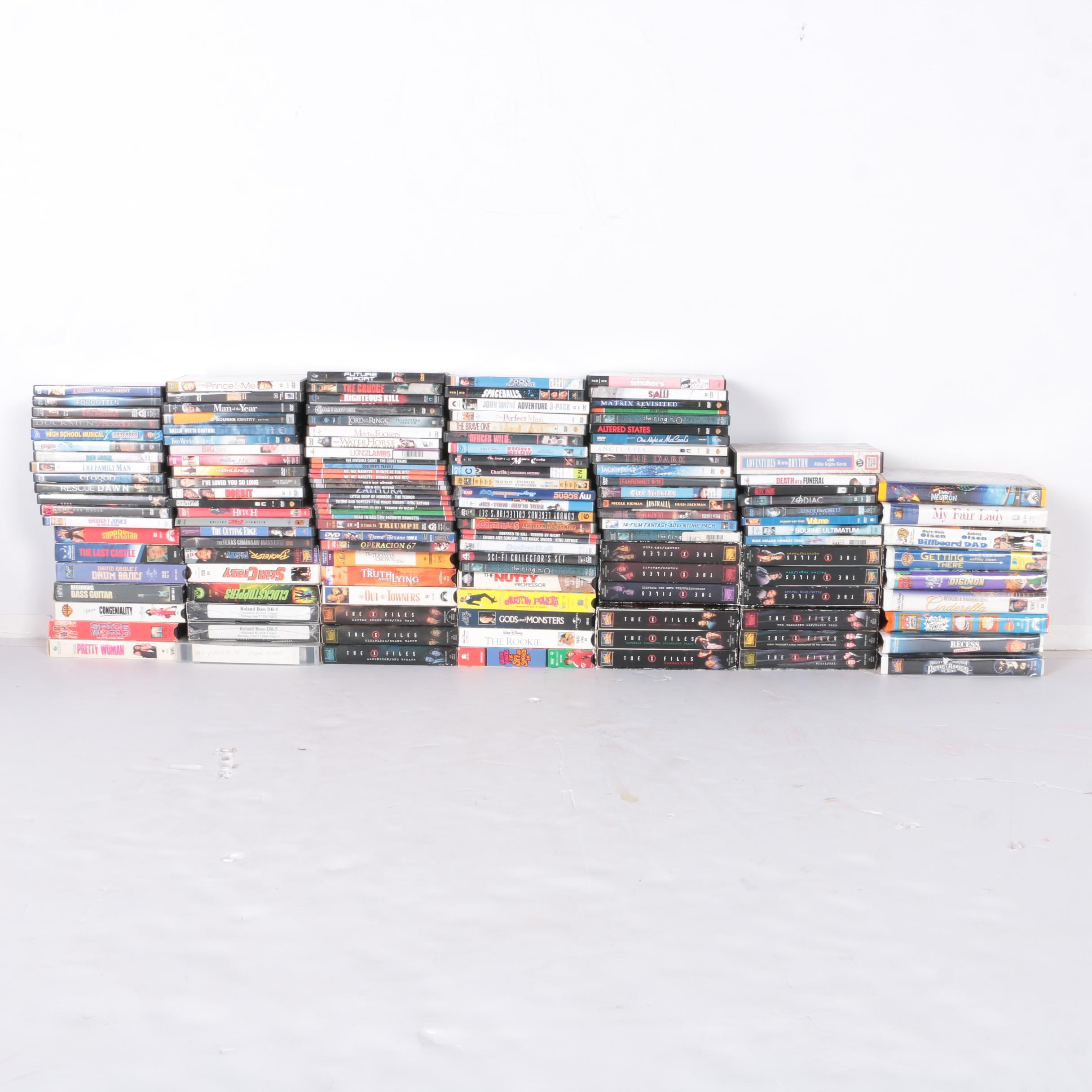 """""""X-FIles"""", """"Power Rangers"""", """"Matrix Revisted"""" and Other Films/TV on VHS and DVD"""