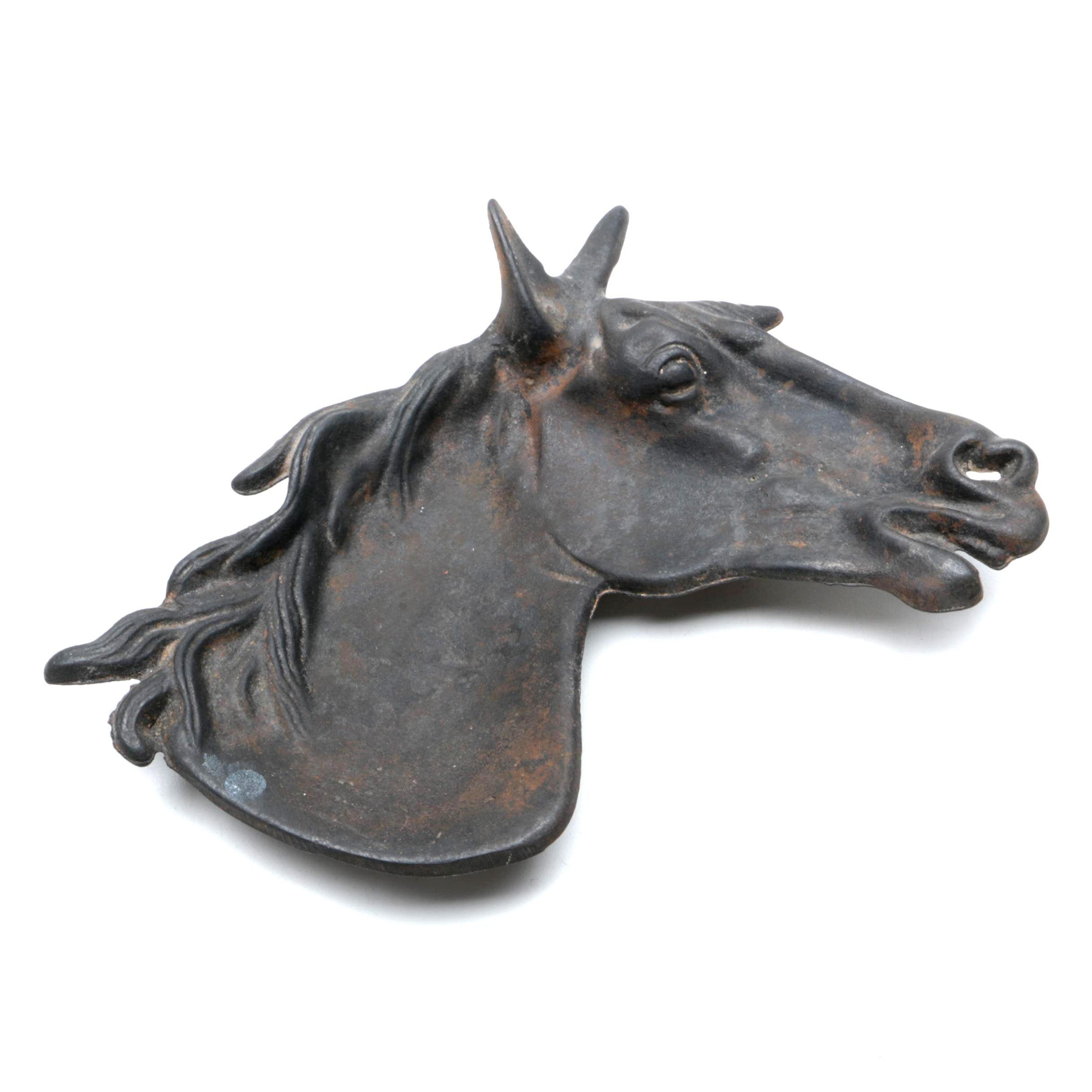 Vintage Cast Iron Horse Head Tray