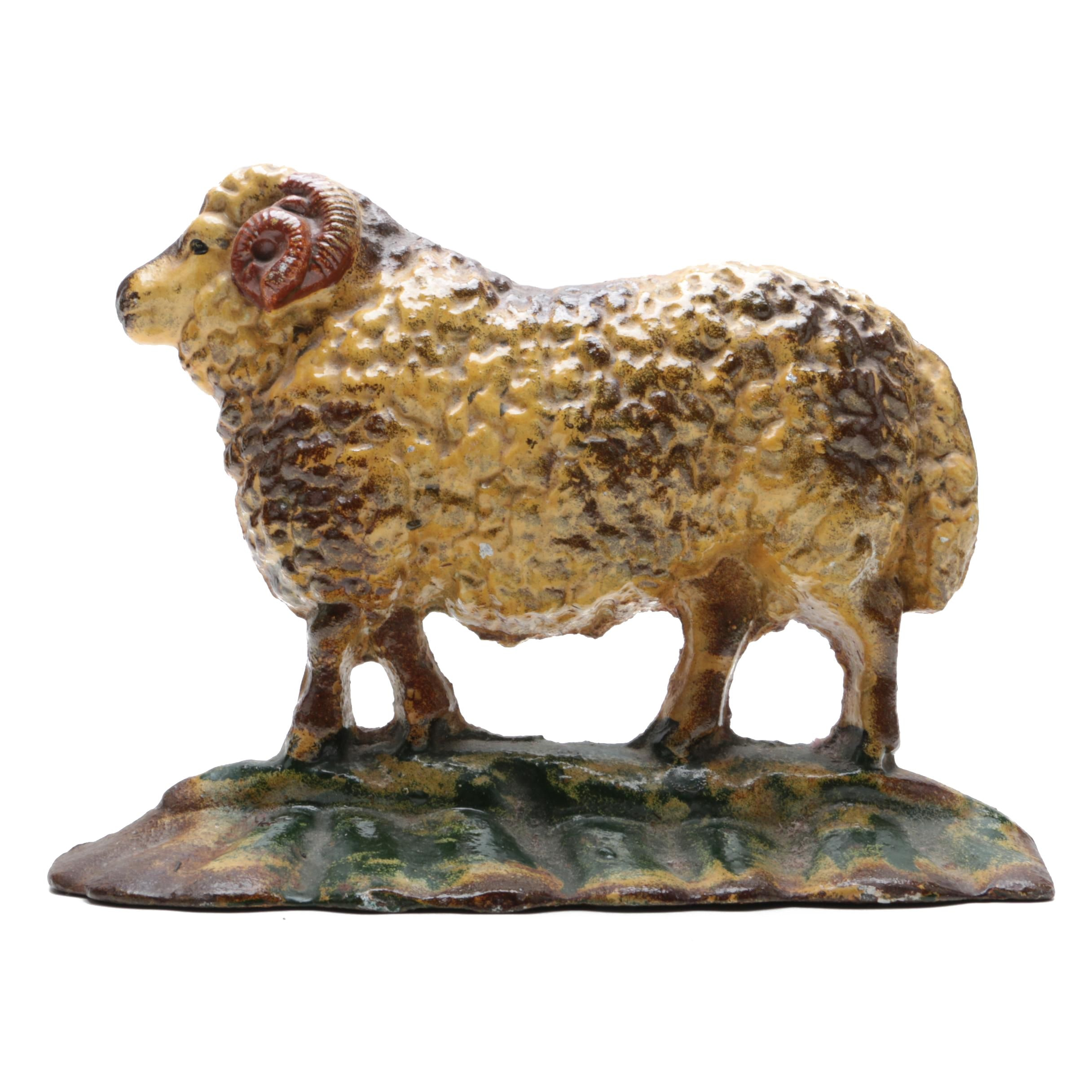 Cast Iron Sheep Door Stopper