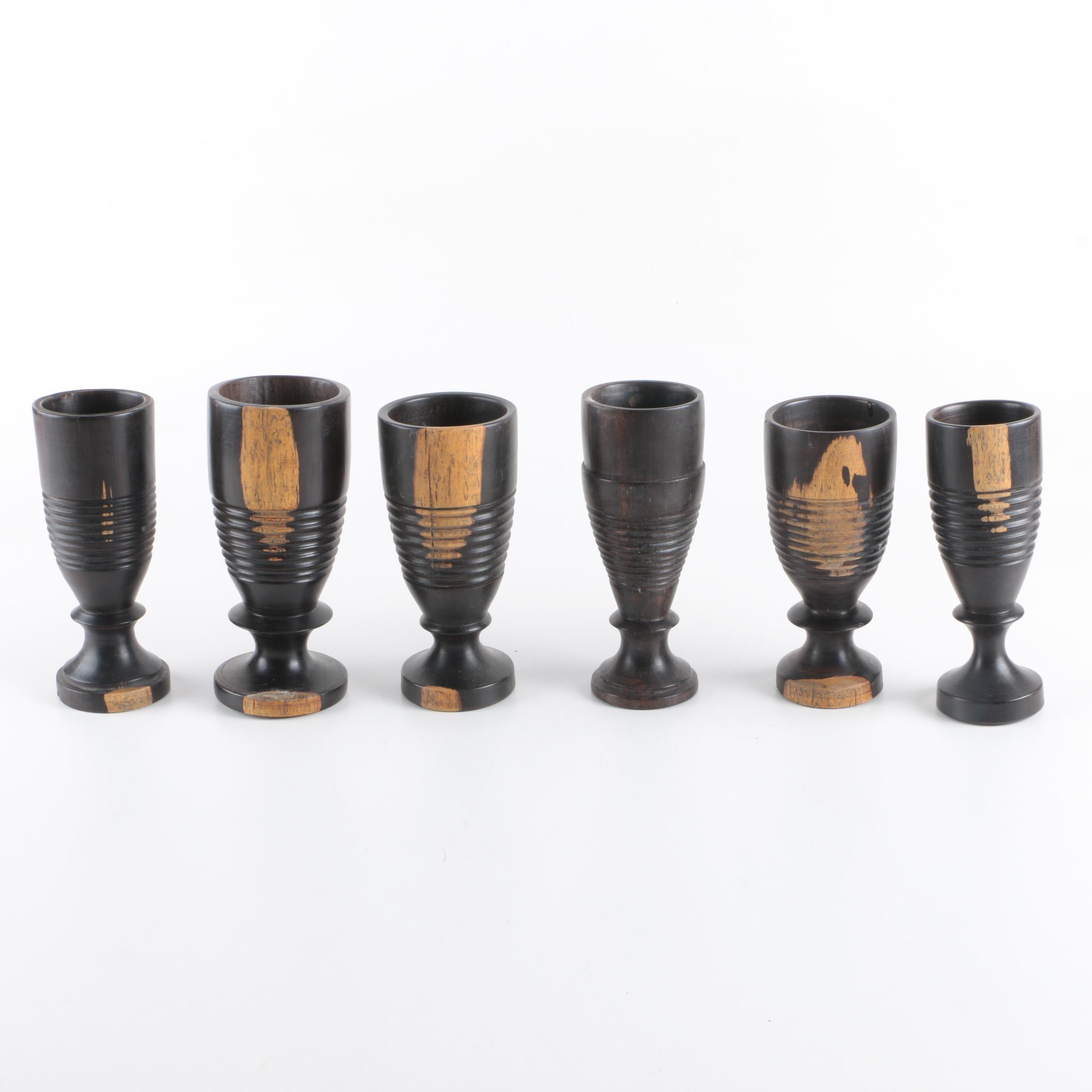 Turned Wood Goblets