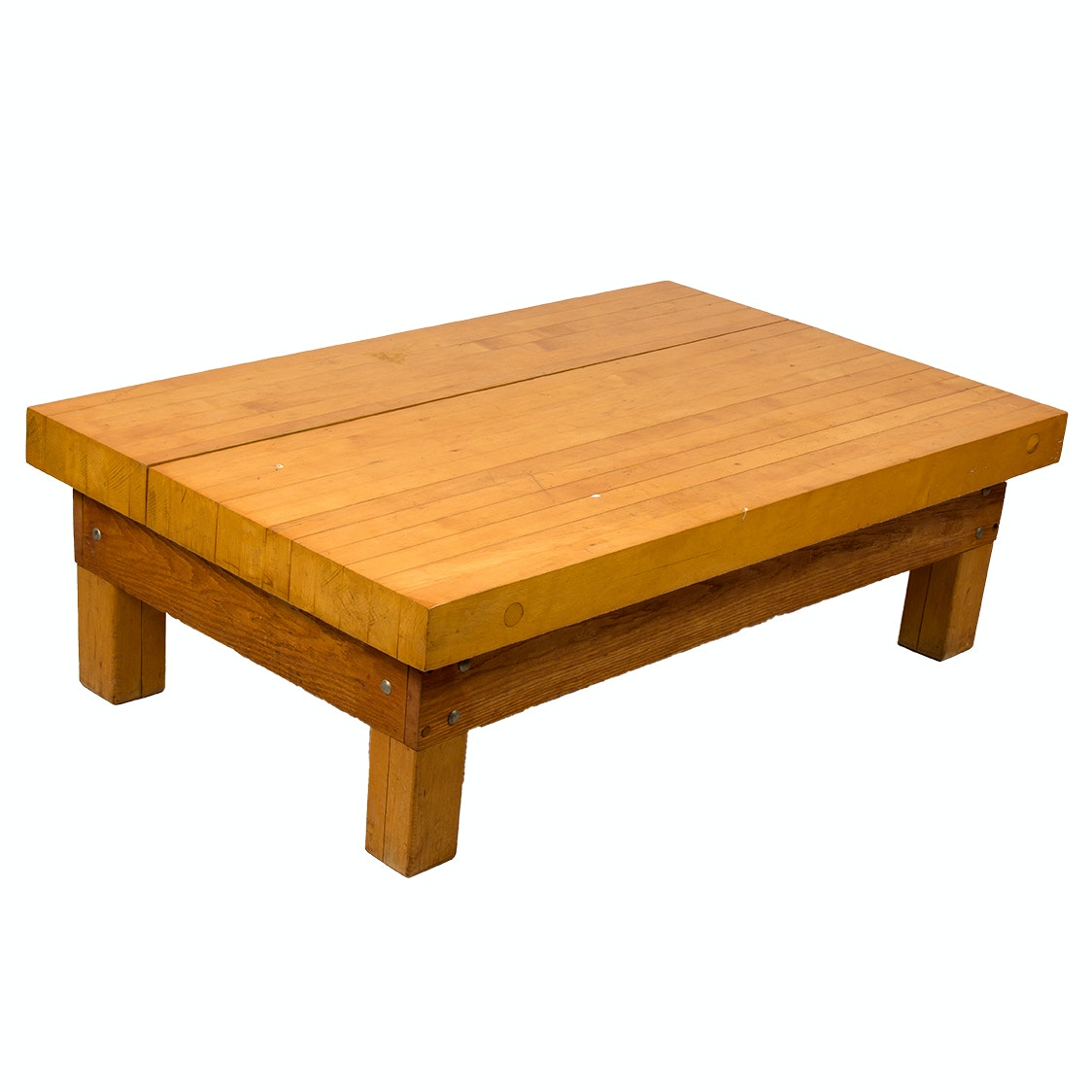 Butcher Block Style Coffee Table