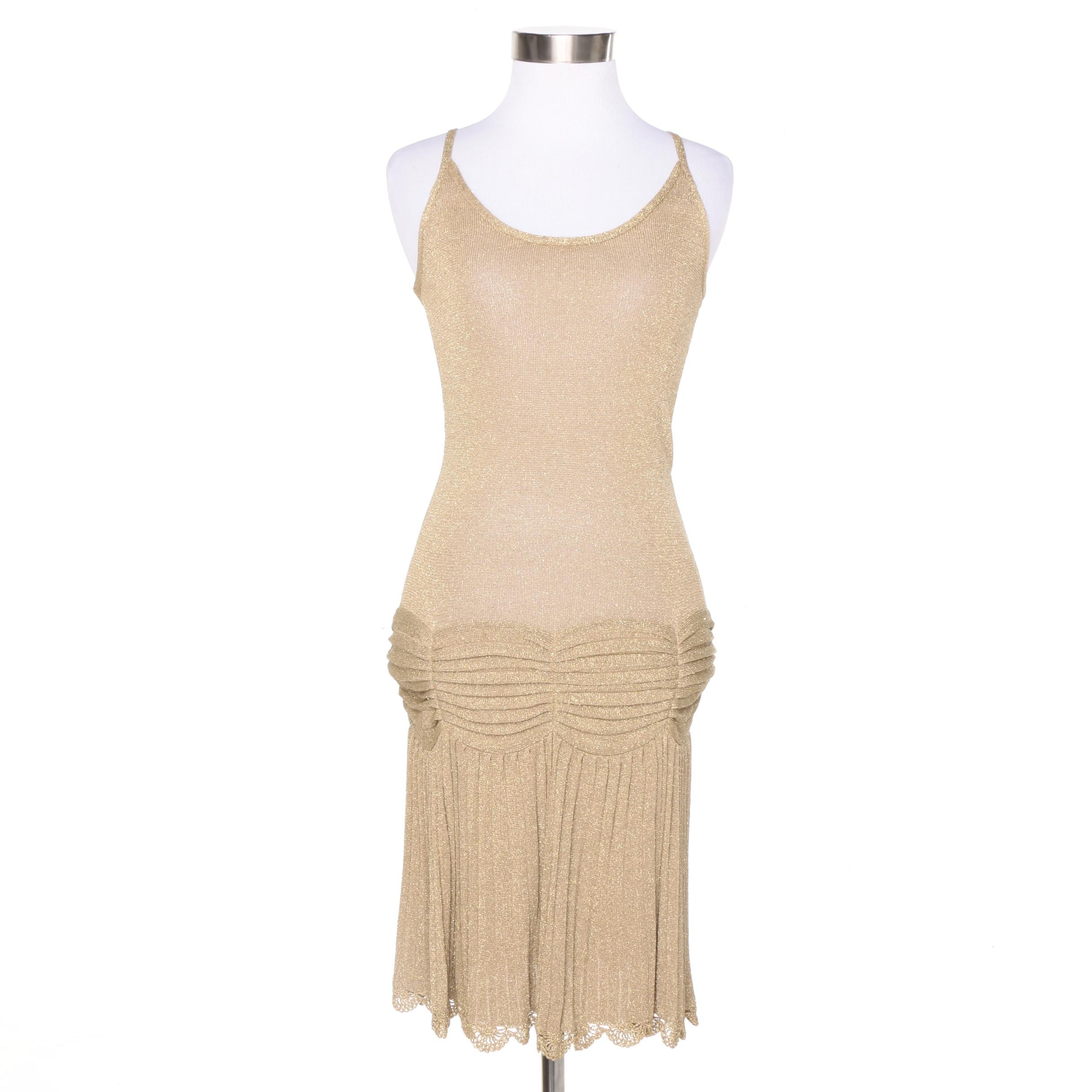 BCBG Max Azria Gold Knit Dress