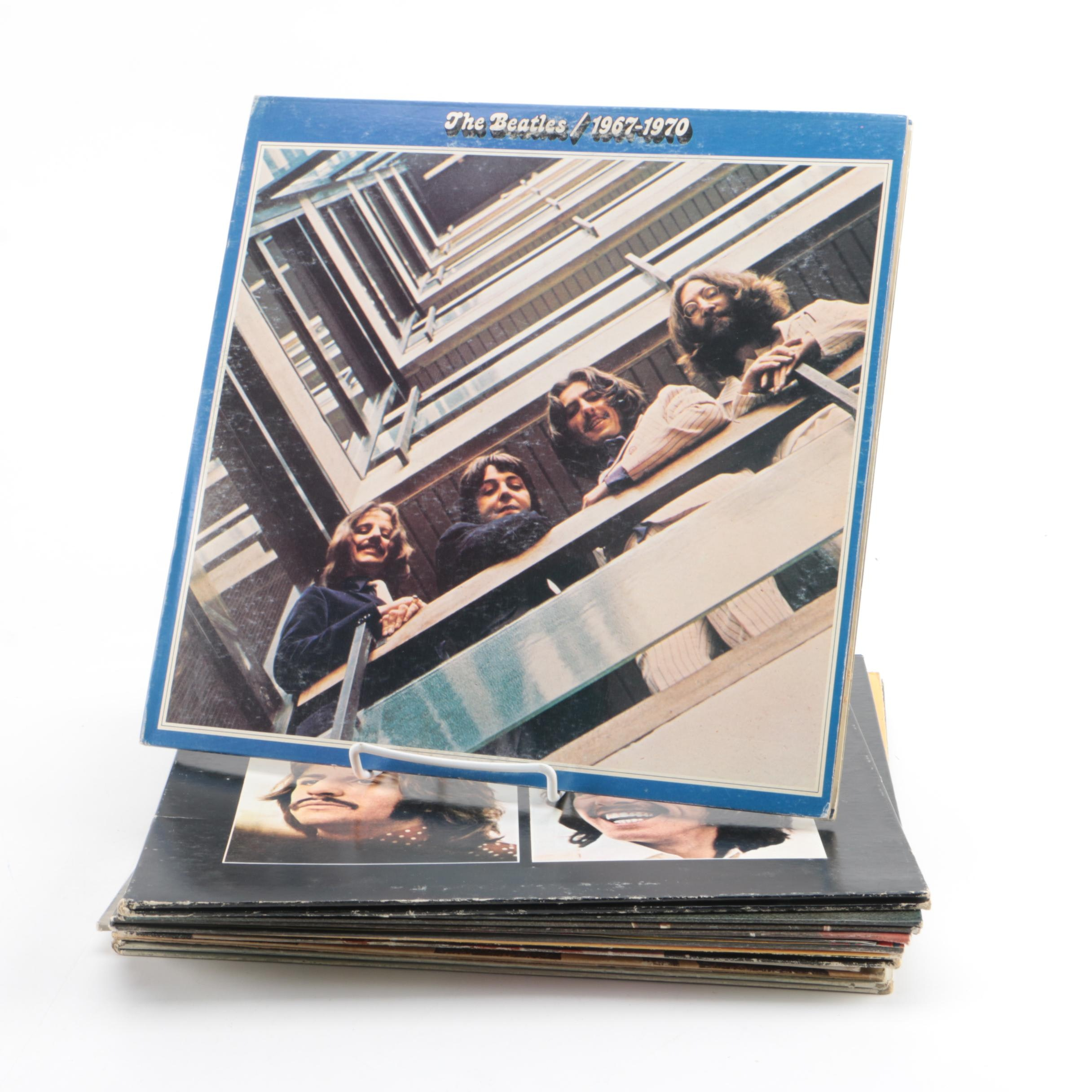 """Beatles, Paul McCartney, and John Lennon LPs Including """"Let It Be"""" and """"Imagine"""""""