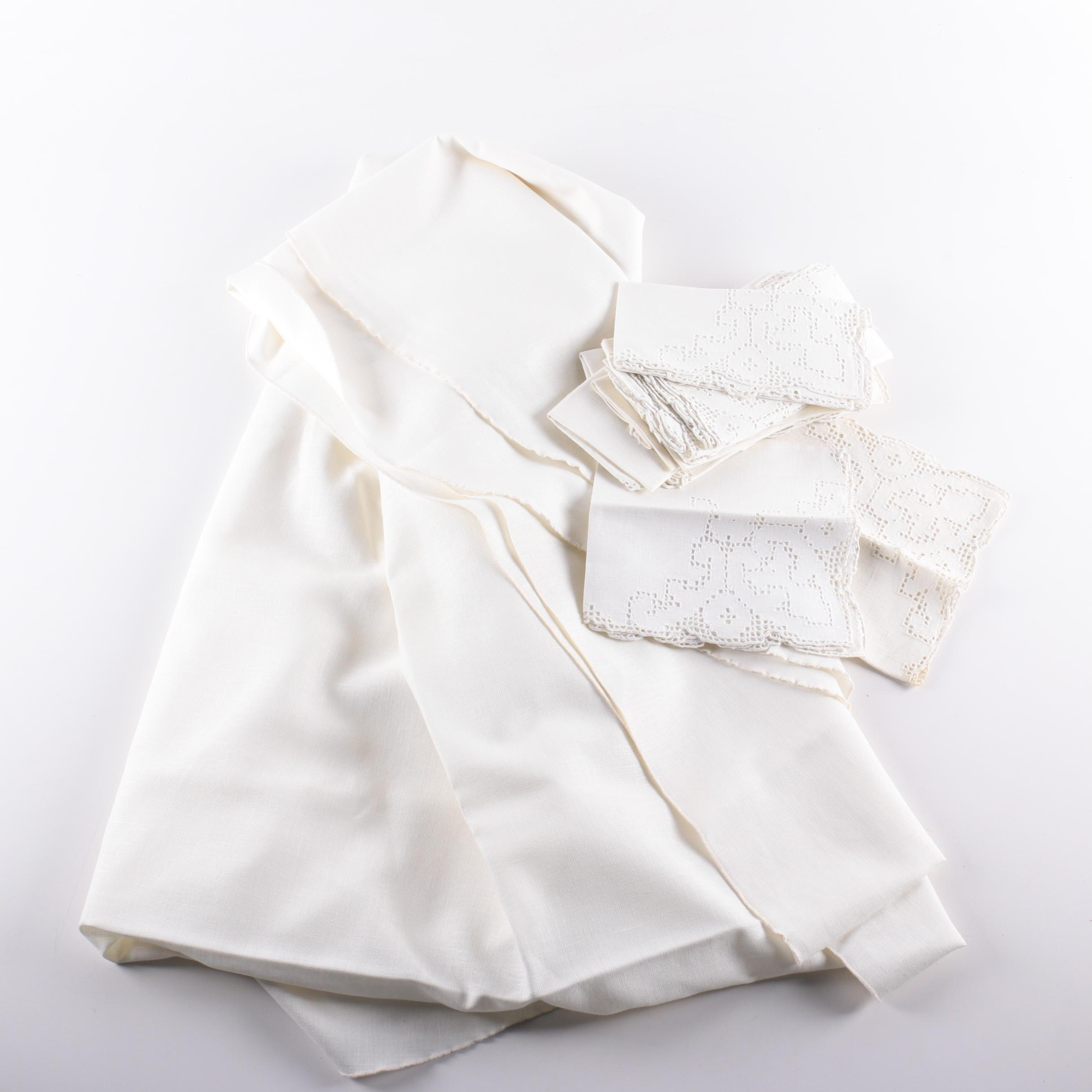 Assorted White Table Linens
