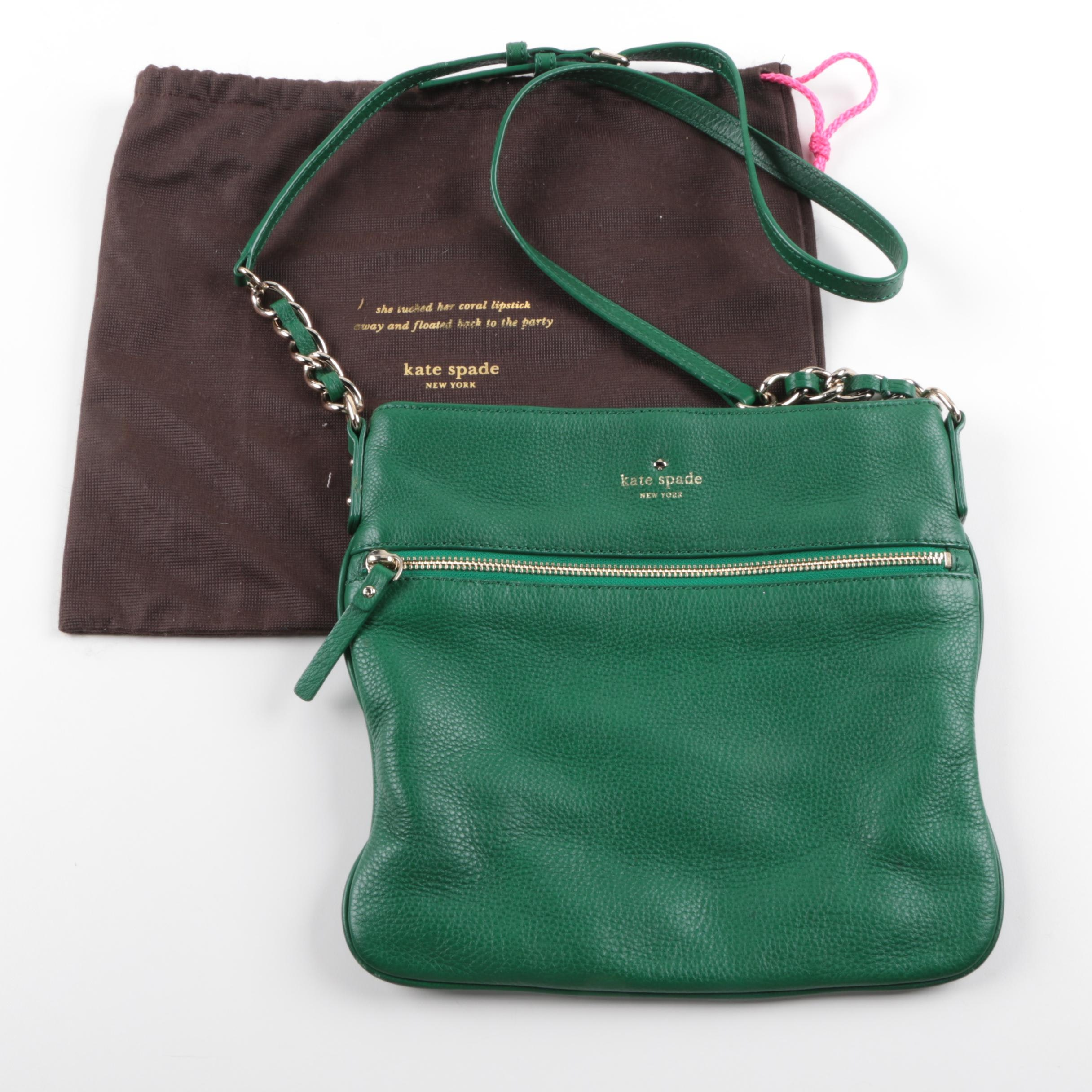 Kate Spade Green Leather Crossbody Bag