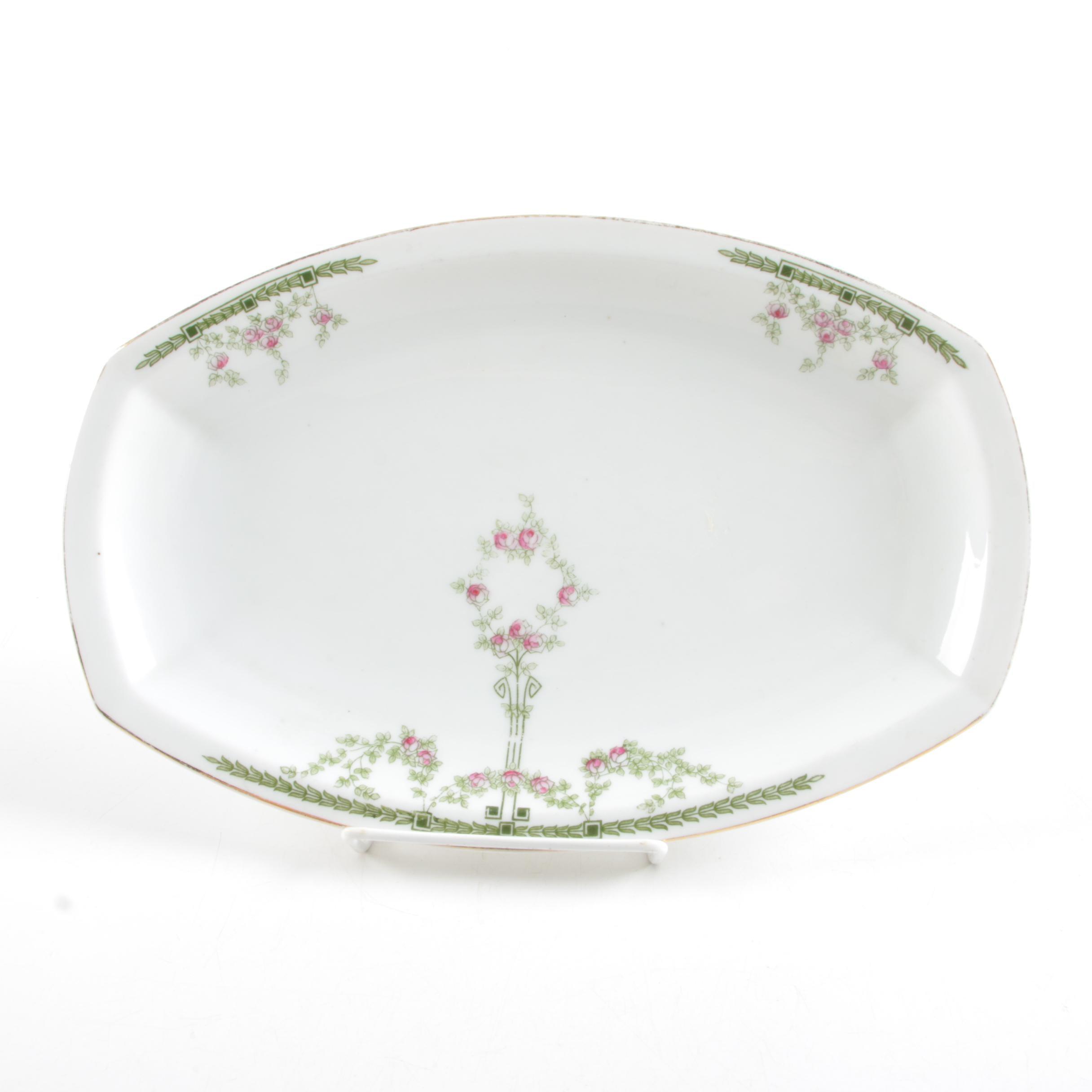 Heinrich & Co. Porcelain Oval Platter, Circa 1930-1939