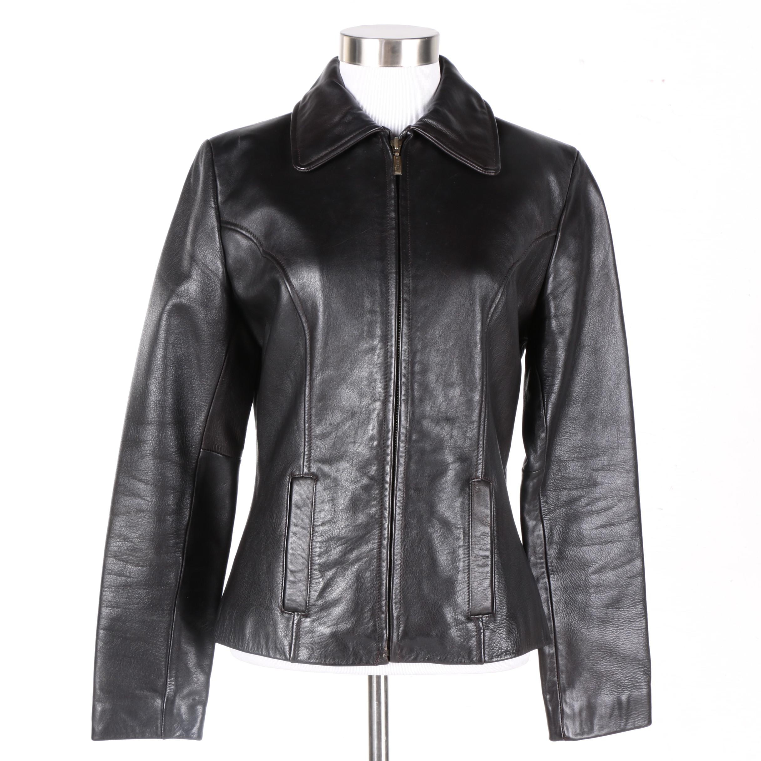 Women's Guess Black Leather Jacket