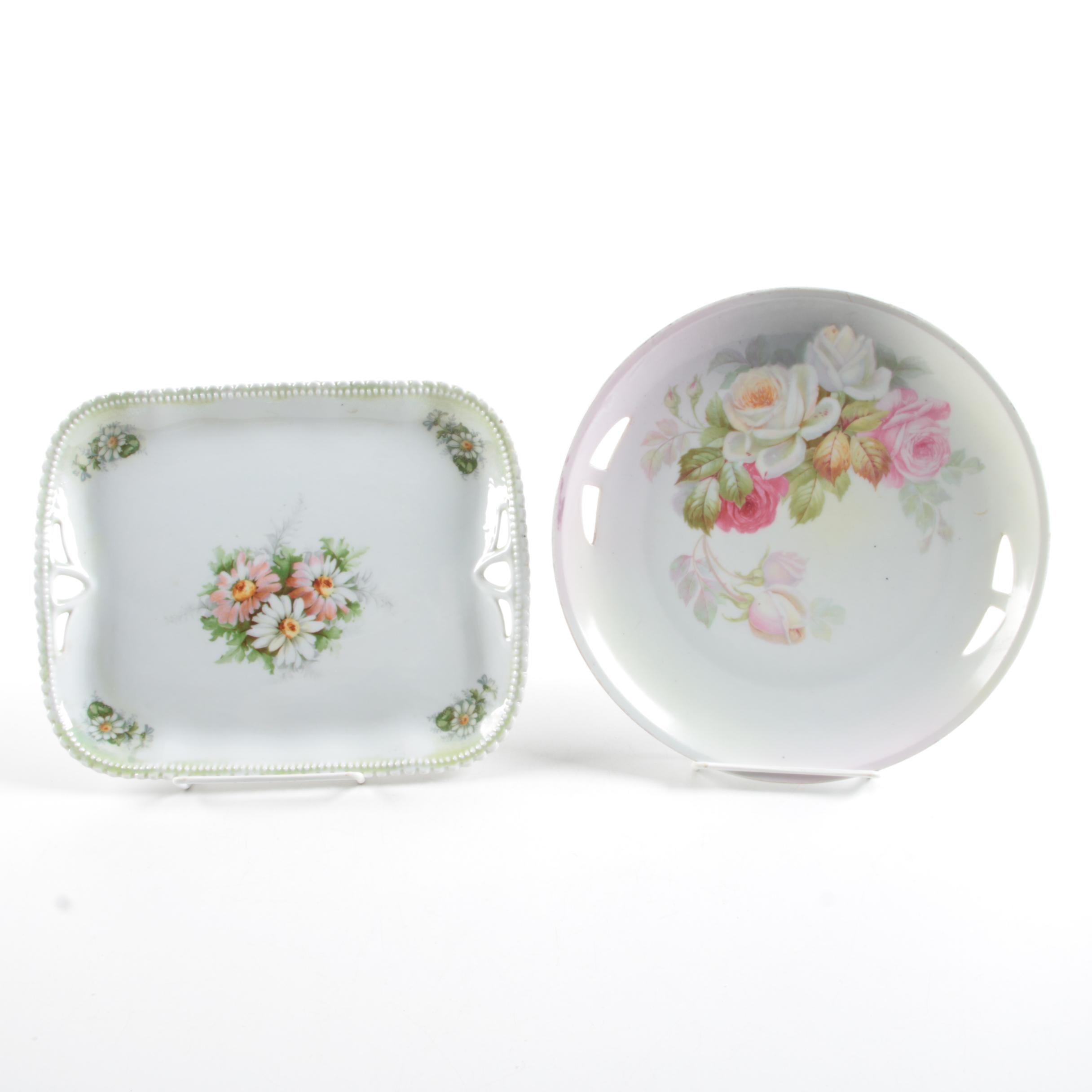 P.K. Silesia Porcelain Rectangiular Platter