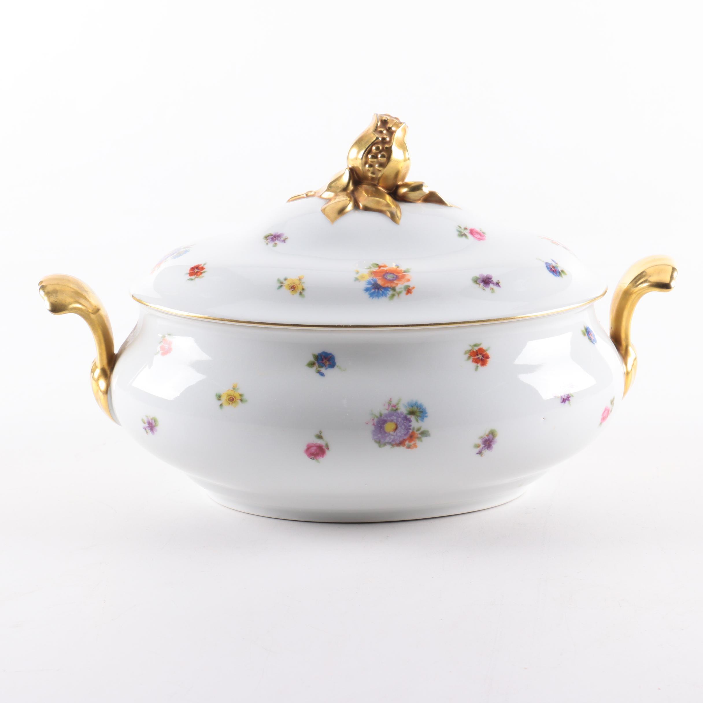 1924-46 Seltmann Porcelain Covered Vegetable Bowl