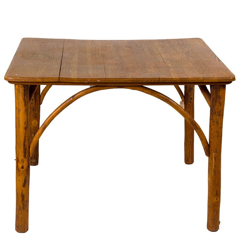 Old Hickory Rustic Wood Dining Table