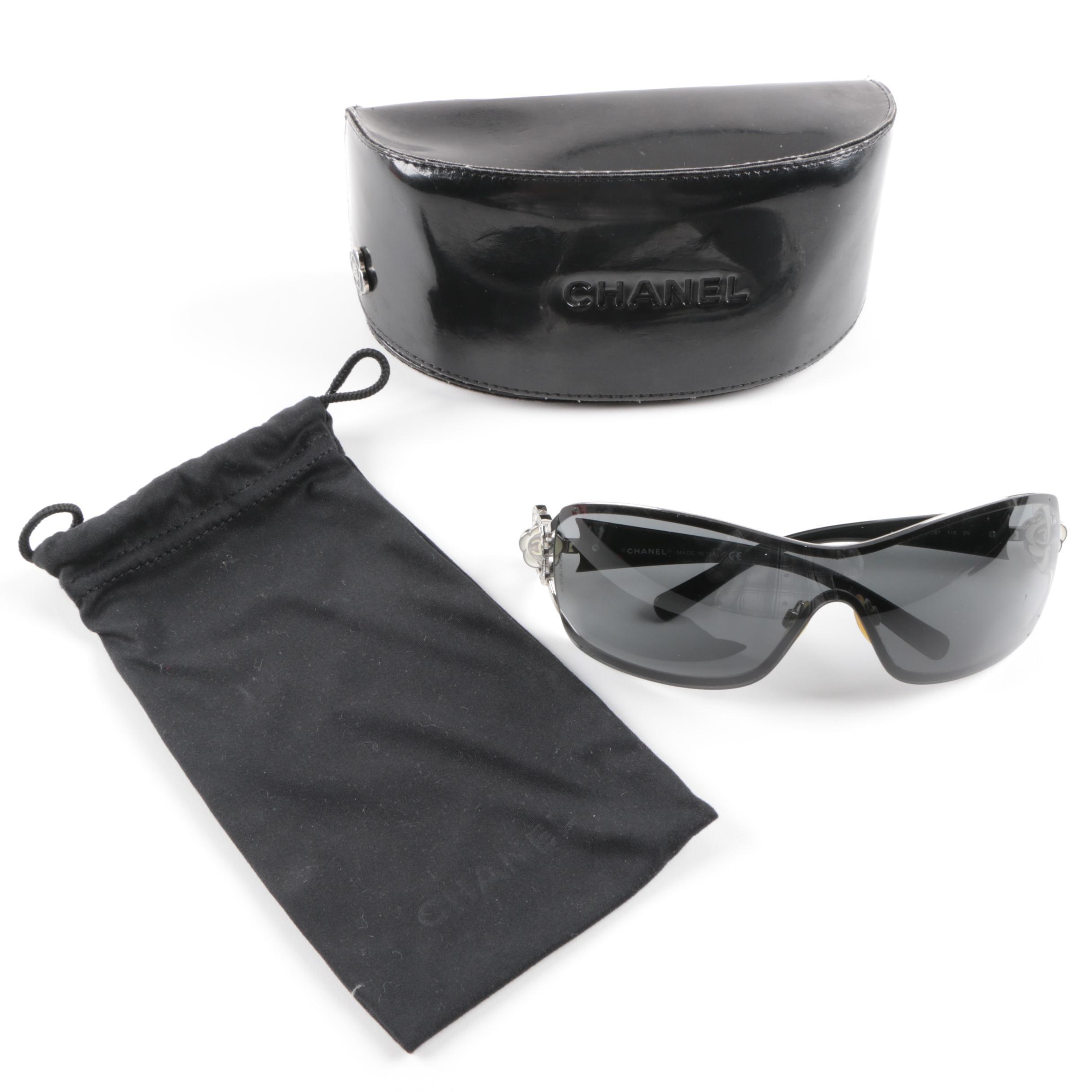 Chanel 4164-B Camellia Sunglasses