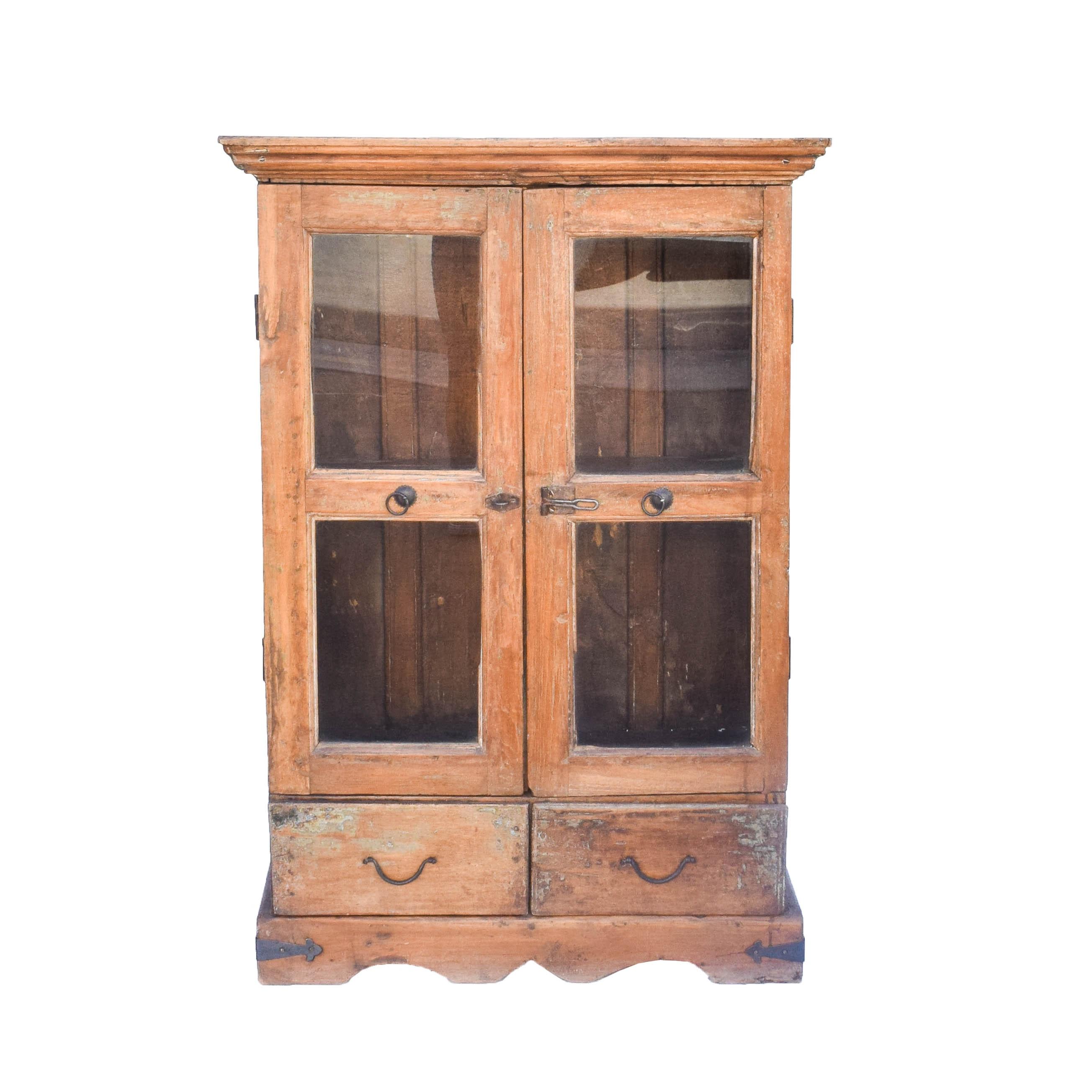 Antique Primitive Walnut Cabinet