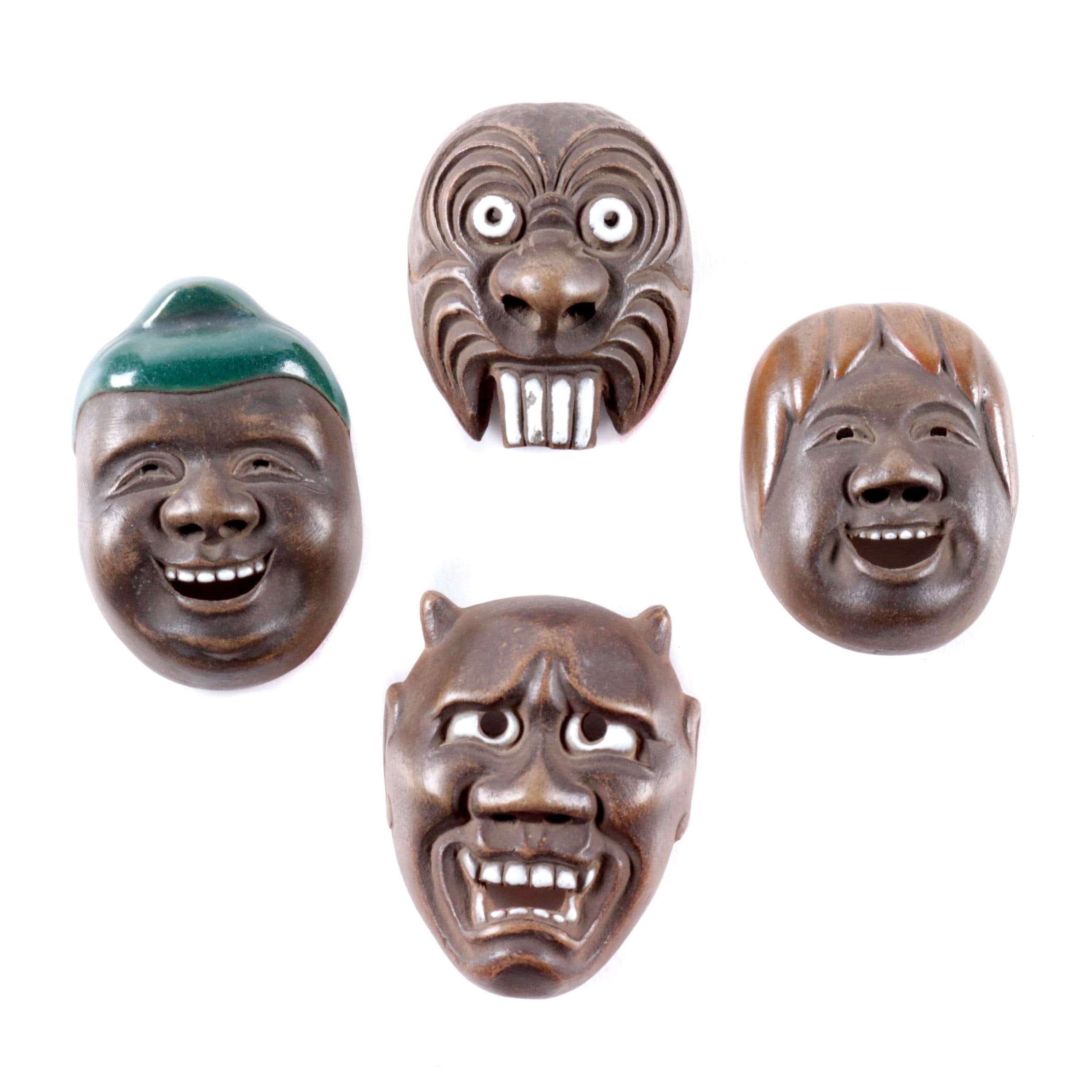 Japanese Style Miniature Masks